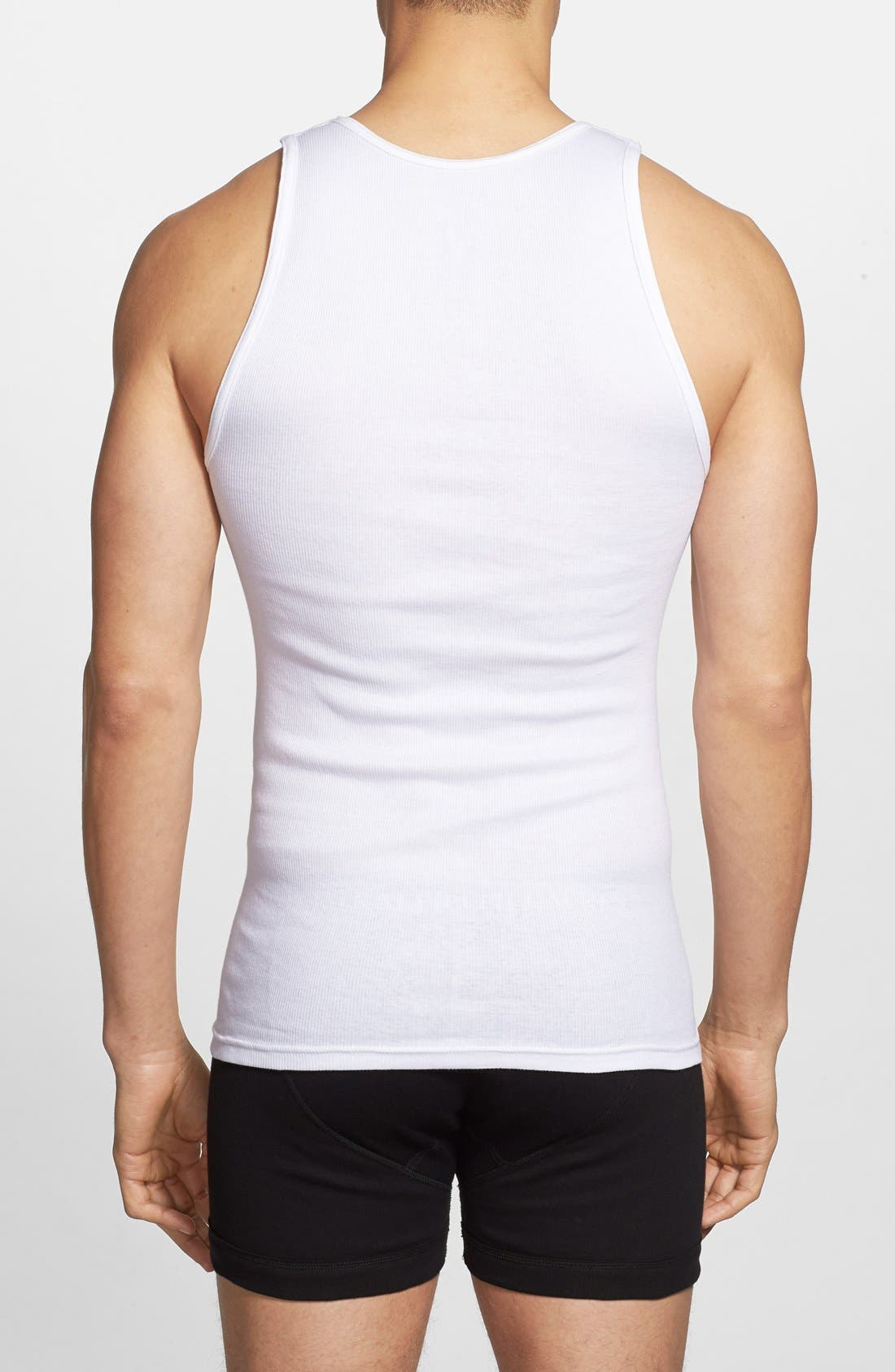 Classic 3-Pack Ribbed Tank,                             Alternate thumbnail 2, color,                             101