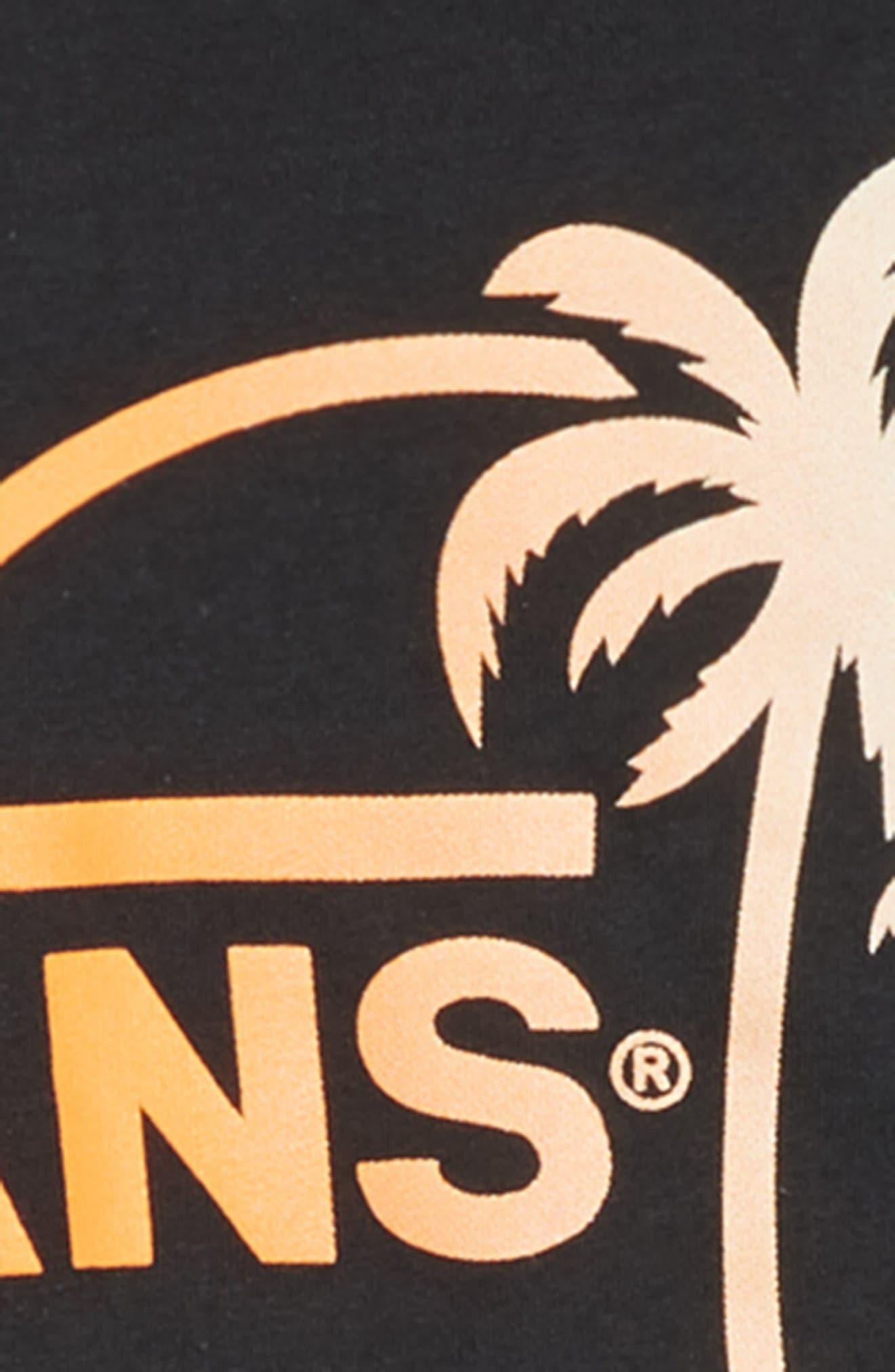 Mini Dual Palm III T-Shirt,                             Alternate thumbnail 3, color,                             BLACK/ GRADIENT