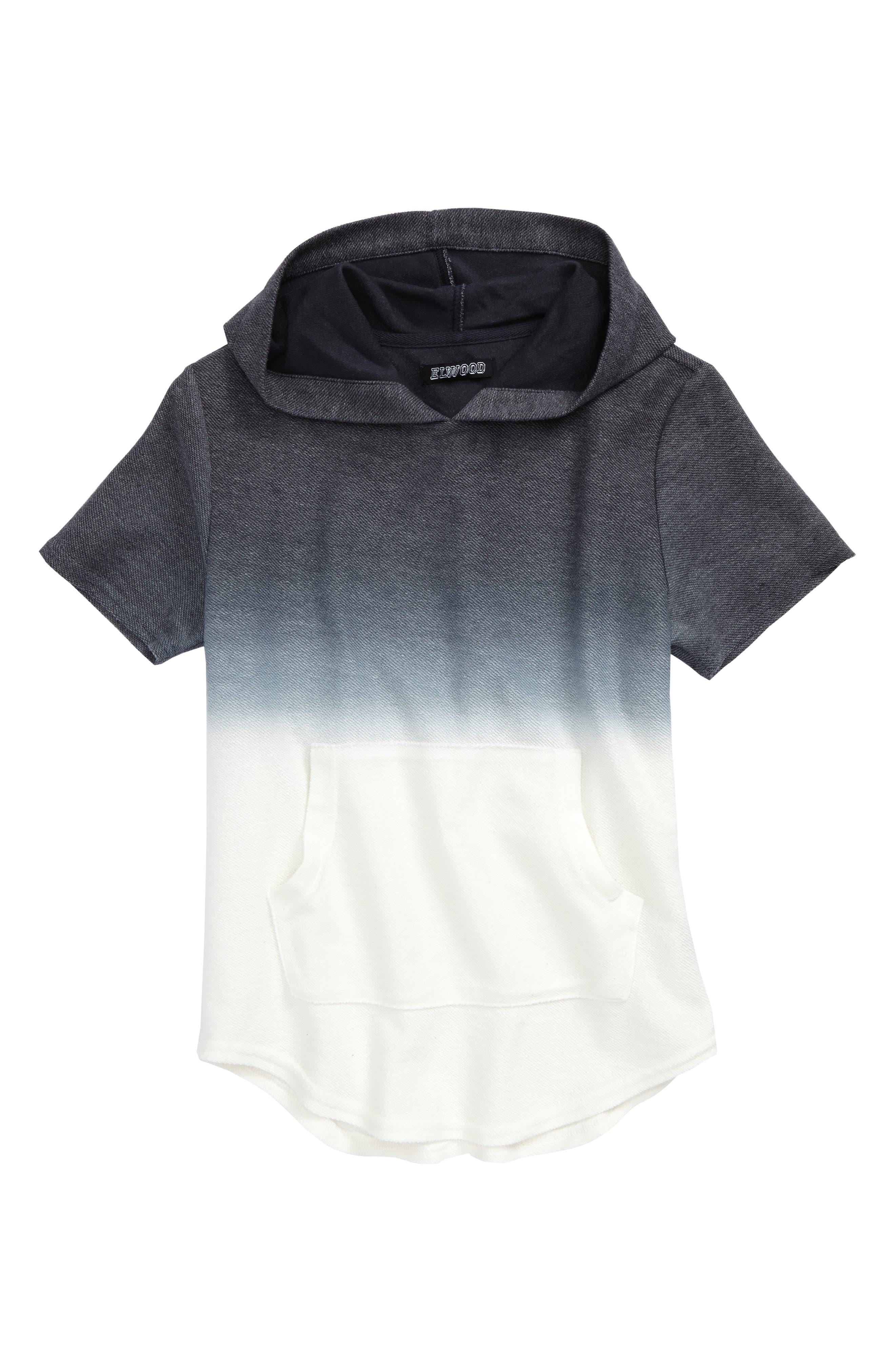 Ombré Short Sleeve Hoodie,                         Main,                         color, 020