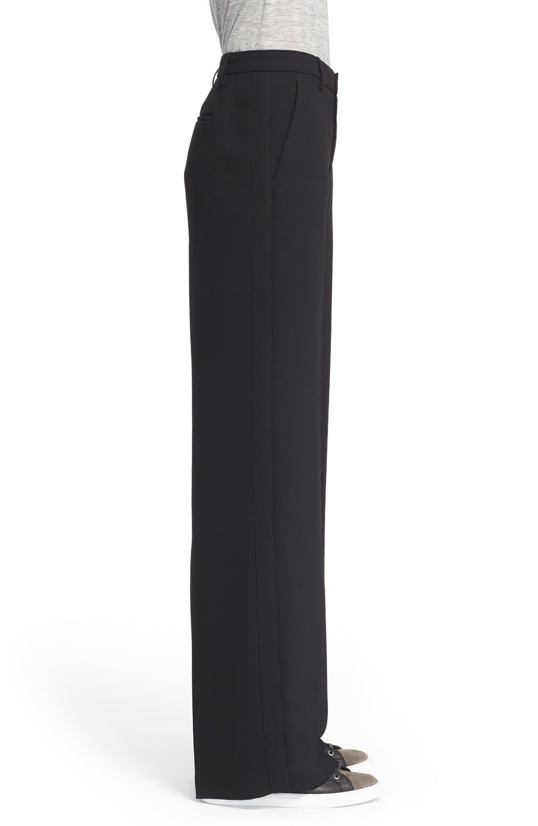 VINCE,                             Wide Leg Trousers,                             Alternate thumbnail 4, color,                             001