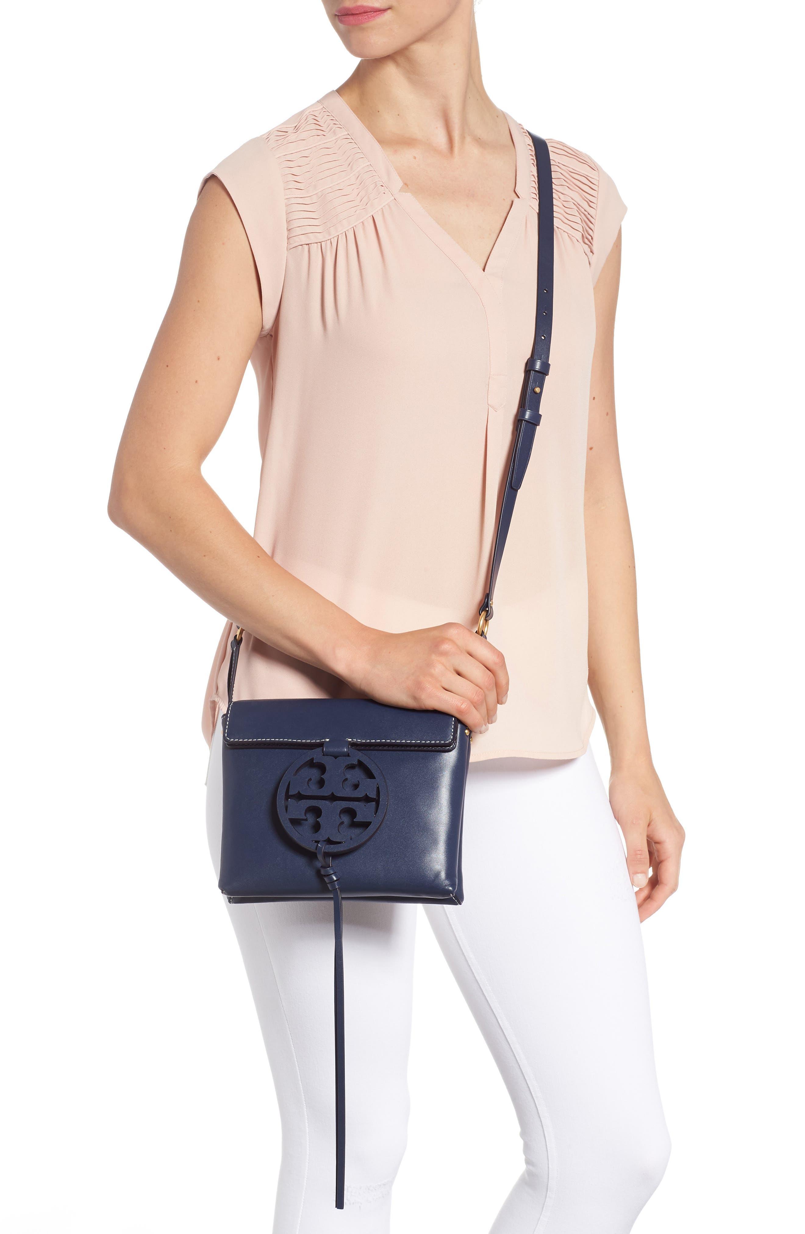 Miller Leather Crossbody Bag,                             Alternate thumbnail 2, color,                             ROYAL NAVY