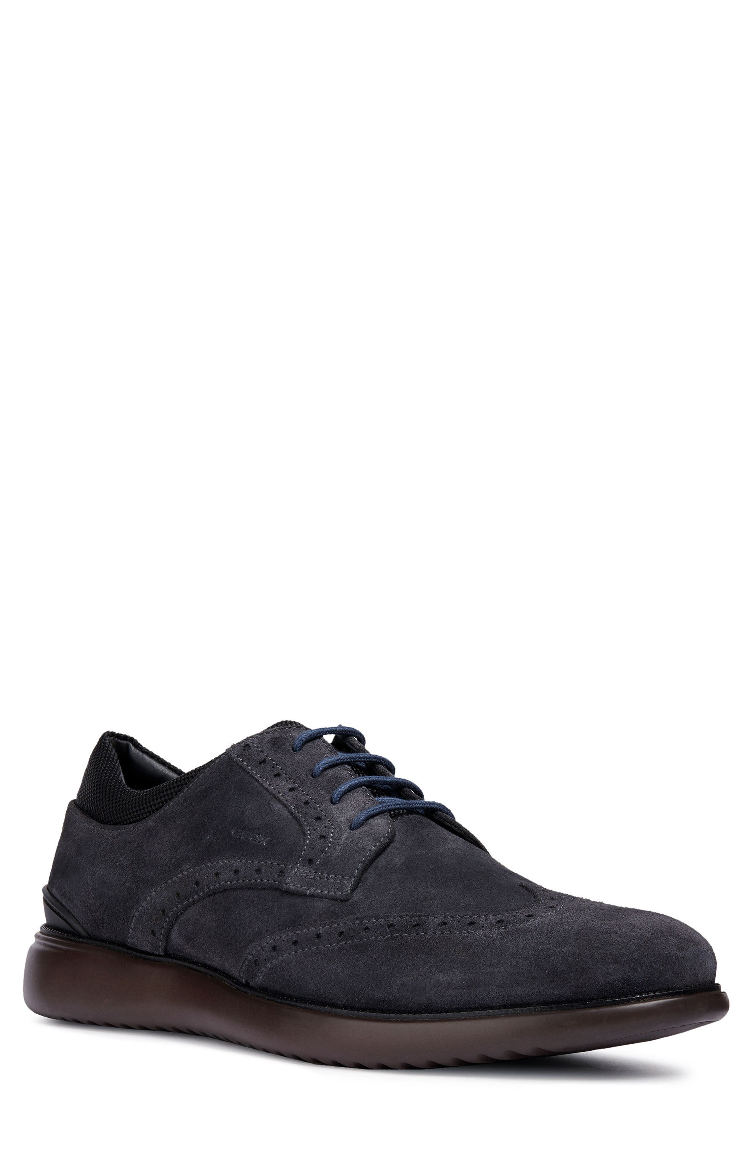 Winfred 6 Wingtip,                             Main thumbnail 1, color,                             DARK JEANS/ BLACK LEATHER
