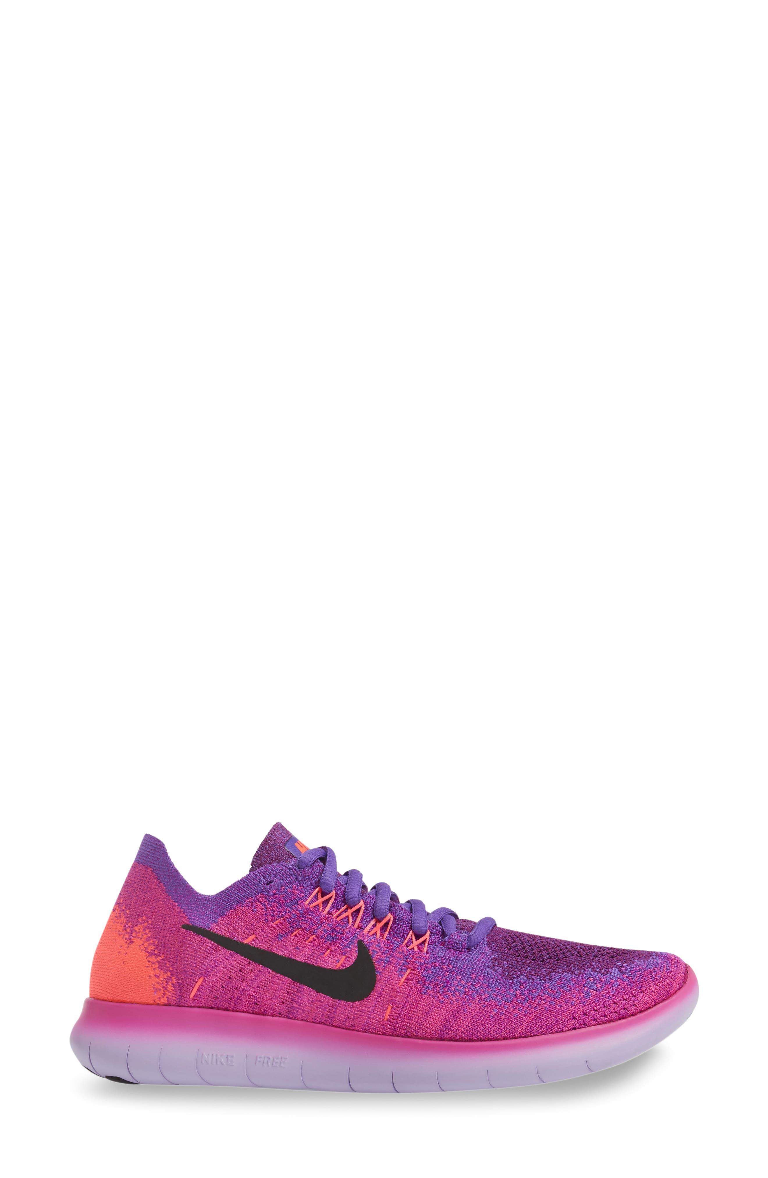 Free RN Flyknit 2 Running Shoe,                             Alternate thumbnail 9, color,
