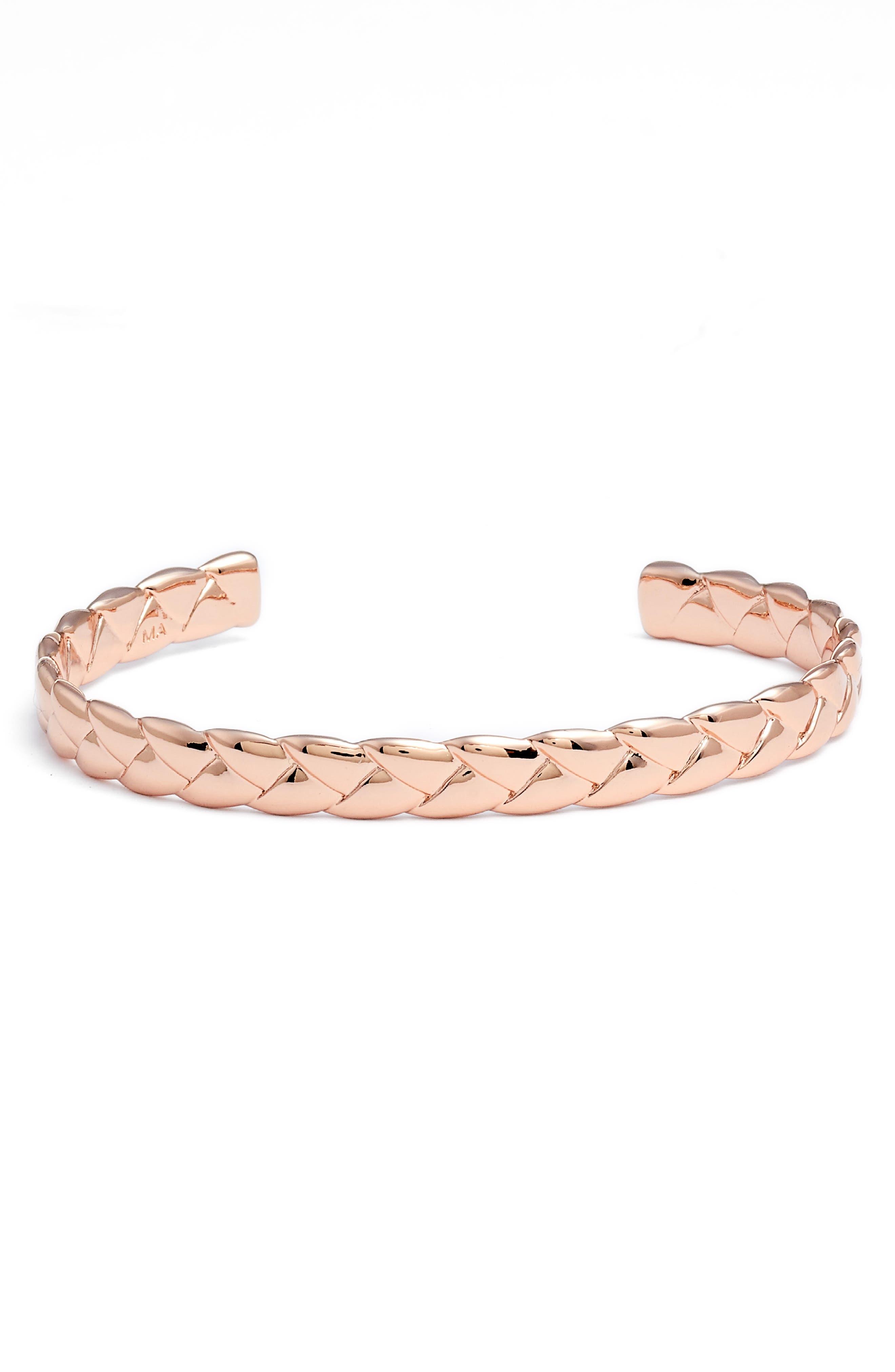 Woven Cuff Bracelet,                             Main thumbnail 2, color,