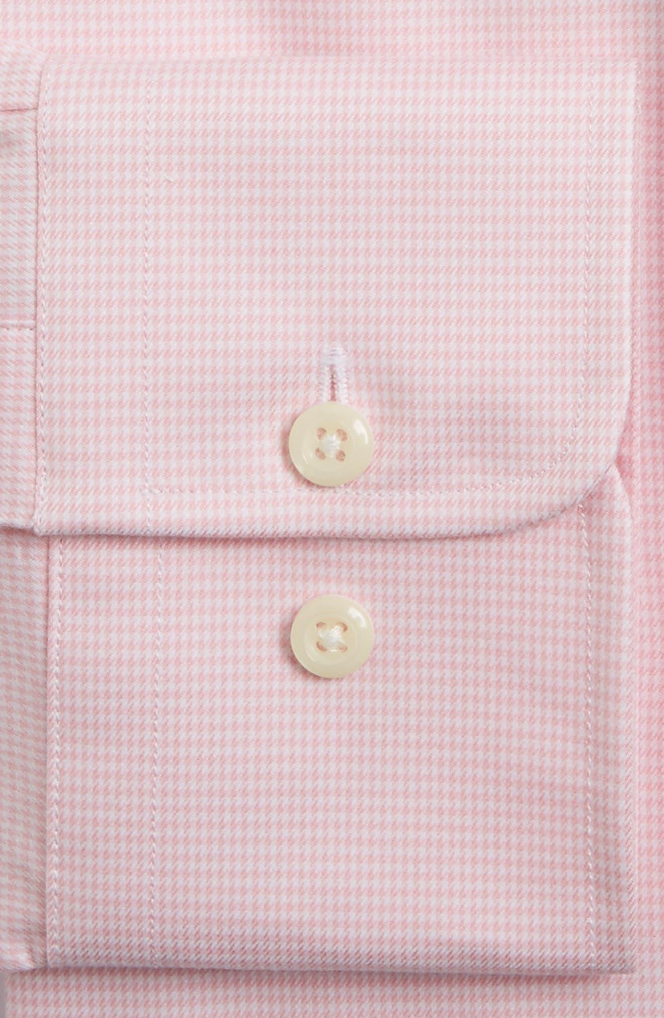 Trim Fit Houndstooth Dress Shirt,                             Alternate thumbnail 4, color,                             650