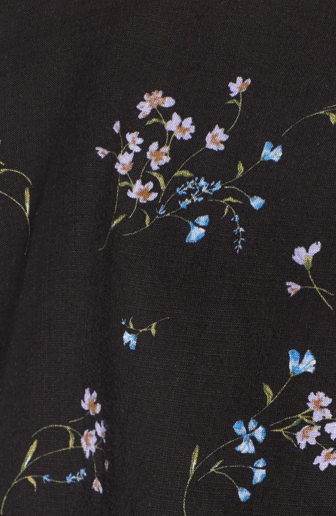 Popover Wrap Front Dress,                             Alternate thumbnail 5, color,                             001