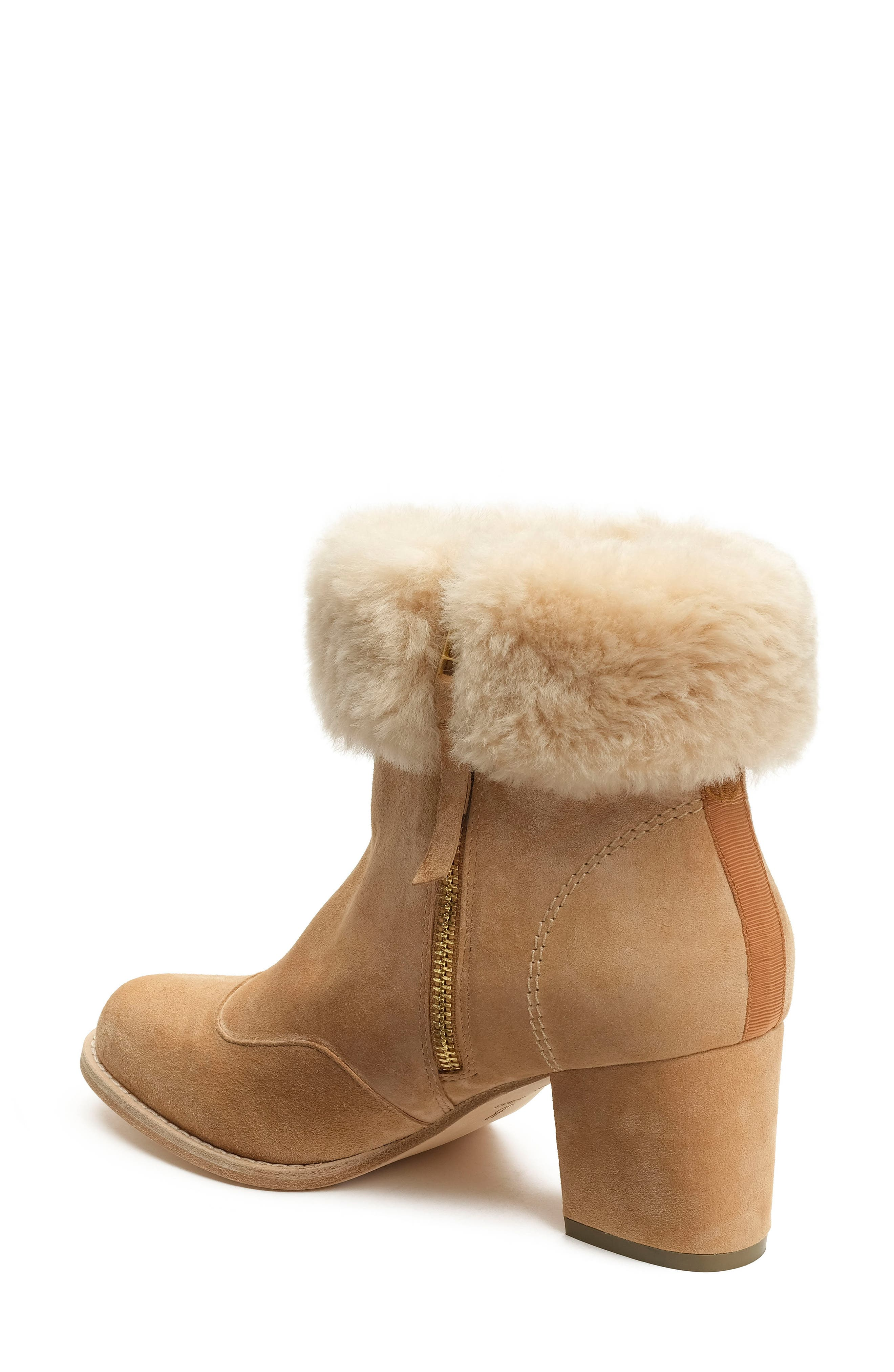 Genuine Shearling Bootie,                             Alternate thumbnail 2, color,