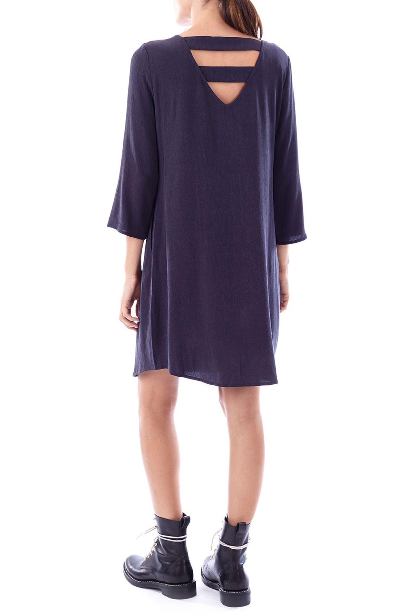 Layla Maternity/Nursing Dress,                             Alternate thumbnail 2, color,                             CHARCOAL