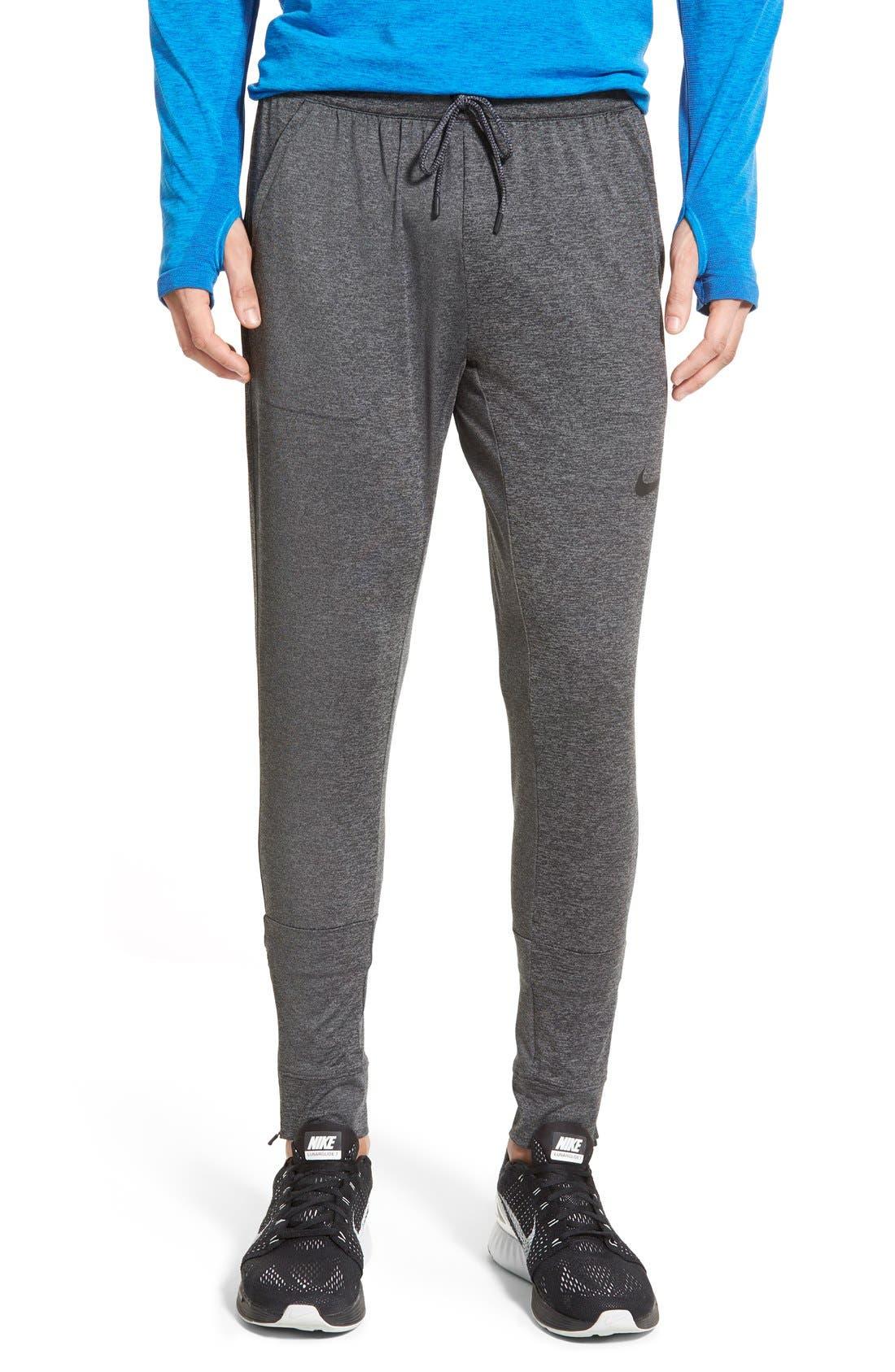 NIKE,                             'Ultimate Dry Knit' Dri-FIT Training Pants,                             Main thumbnail 1, color,                             010