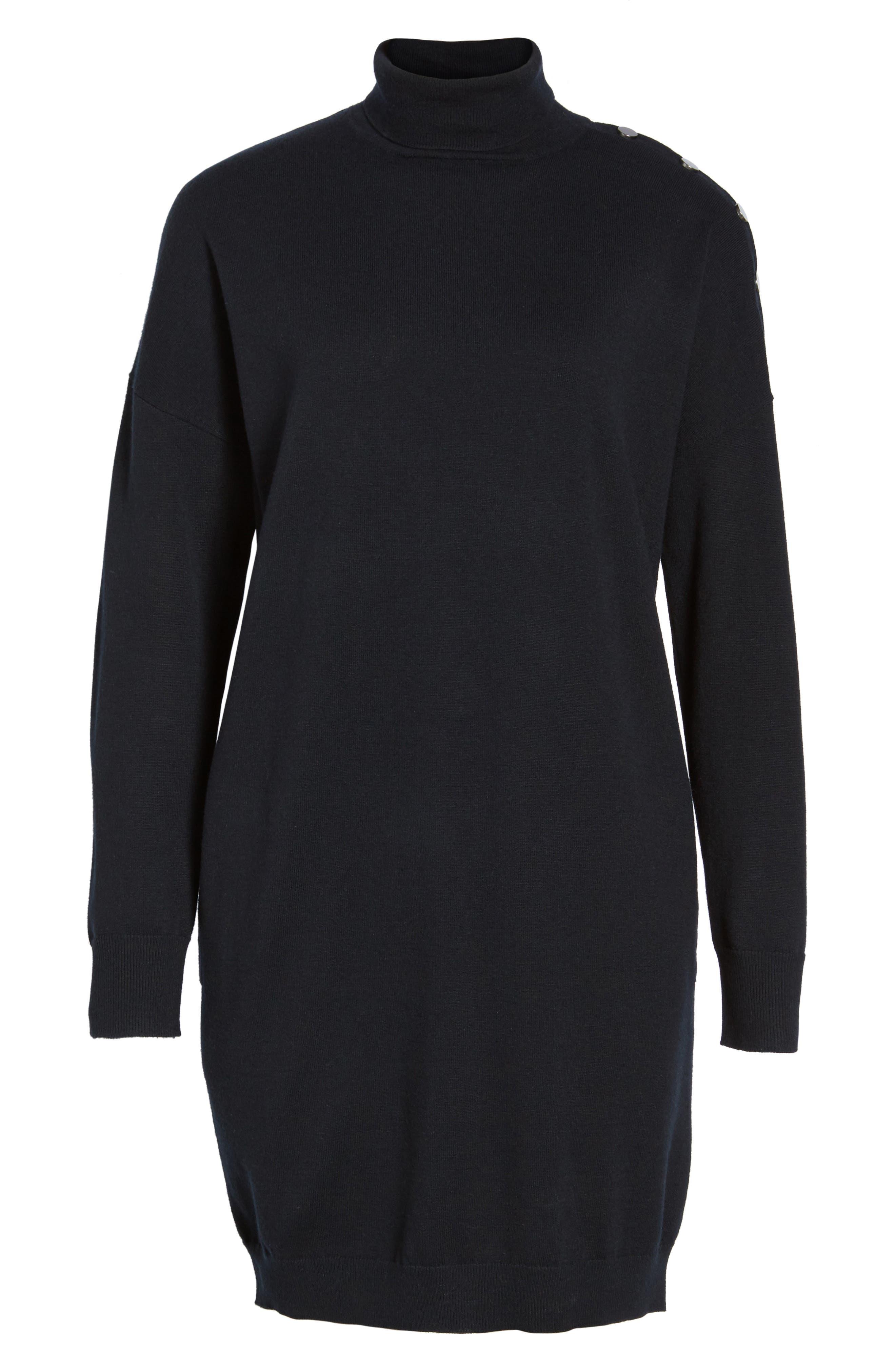 Marissa Sweater Dress,                             Alternate thumbnail 6, color,                             001