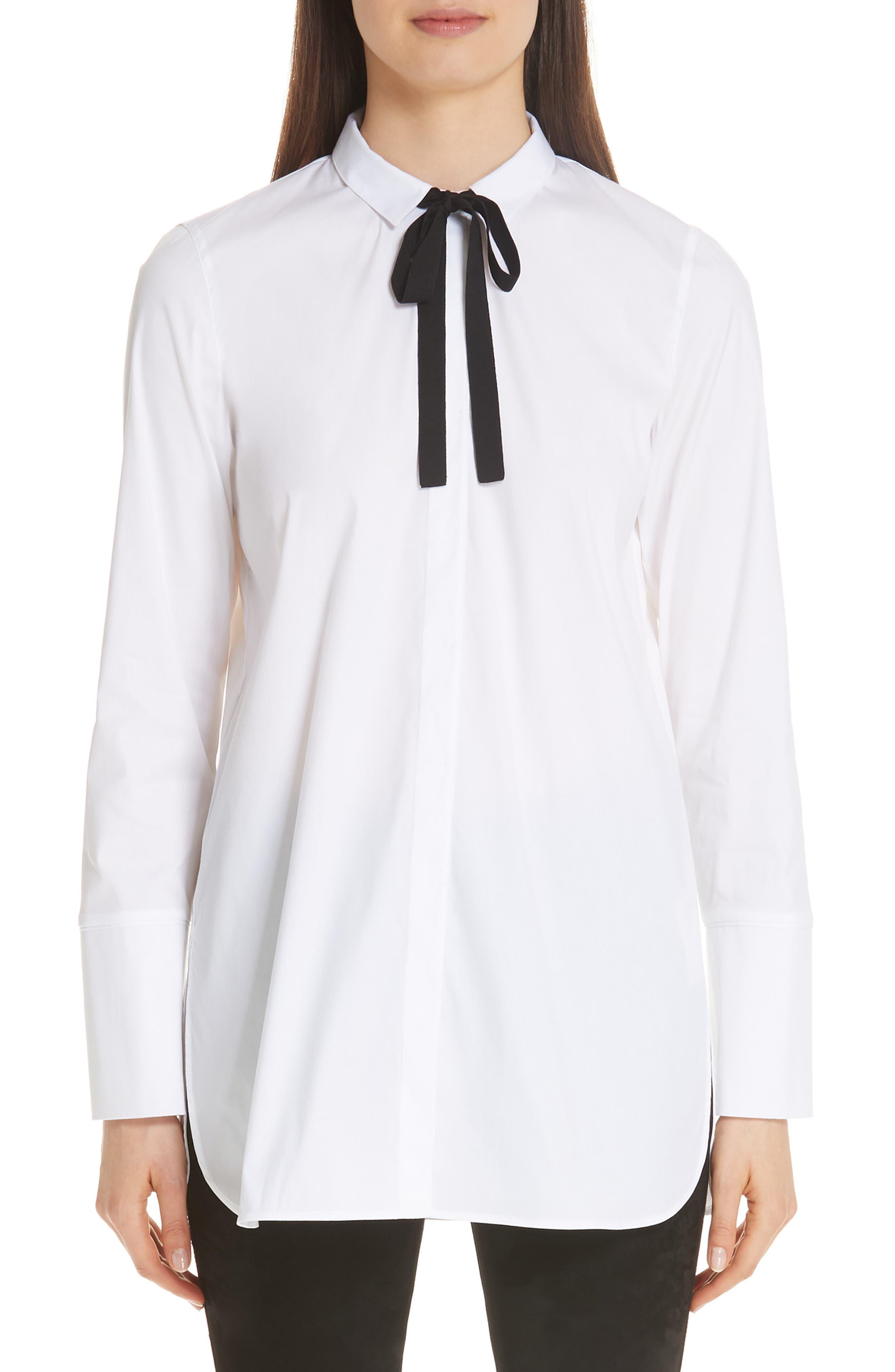 Annaliese Shirt,                         Main,                         color, WHITE