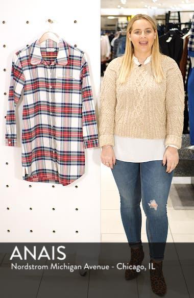Jolly Plaid Flannel Pajama Shirt, sales video thumbnail