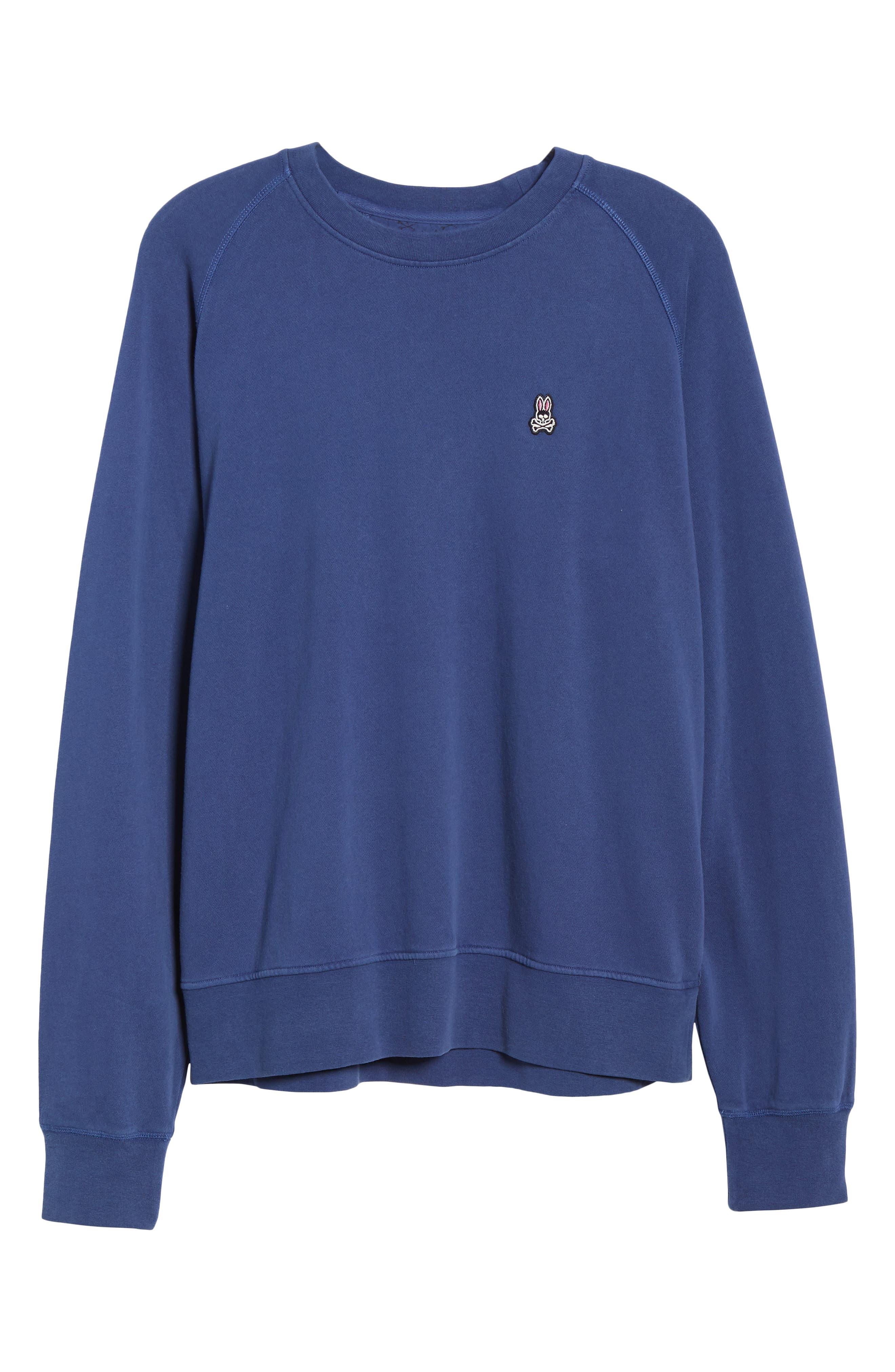Dunham Crewneck Sweatshirt,                             Alternate thumbnail 6, color,                             BLUE PRINT
