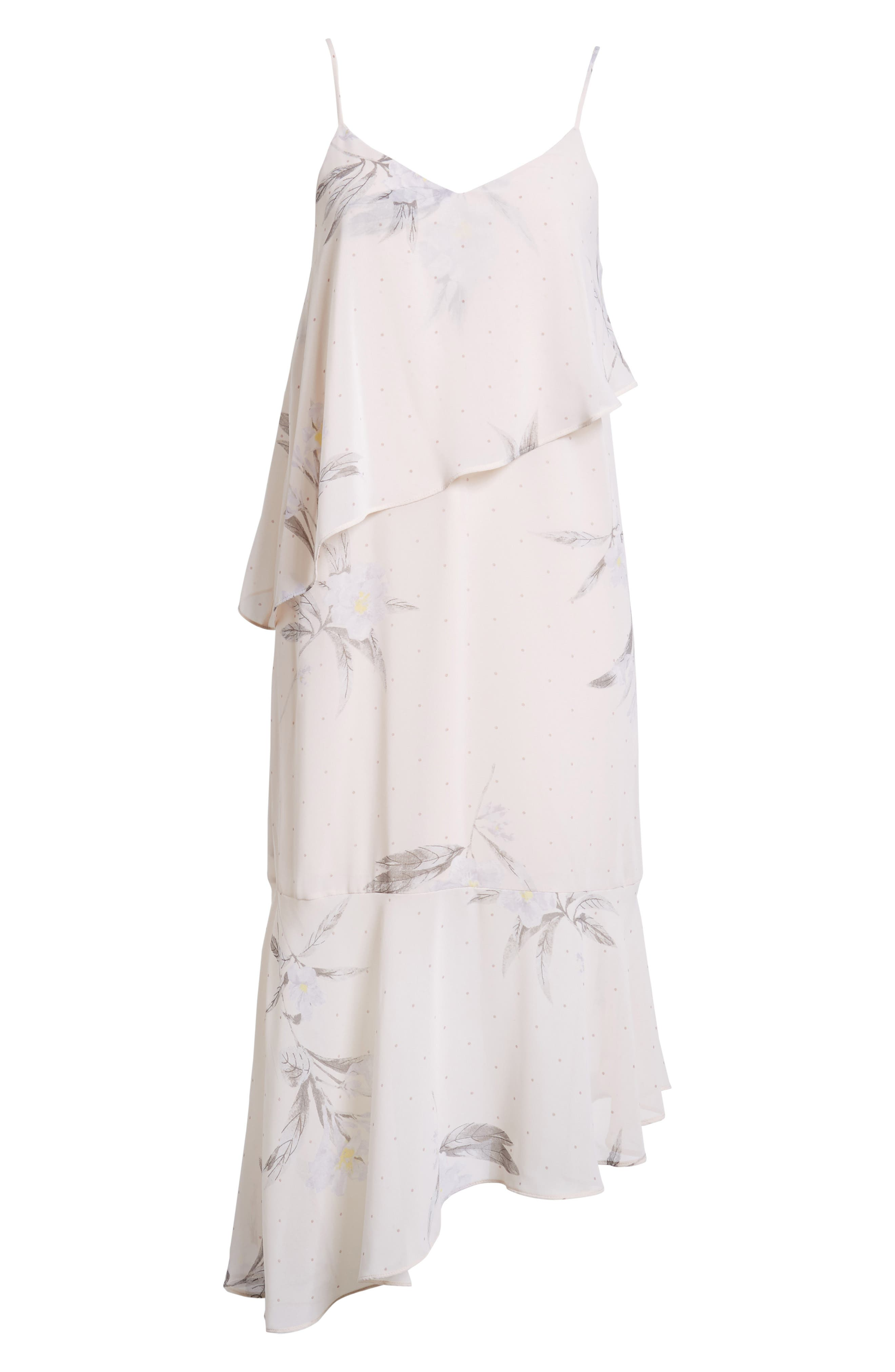 Asymmetric Midi Dress,                             Alternate thumbnail 6, color,                             250