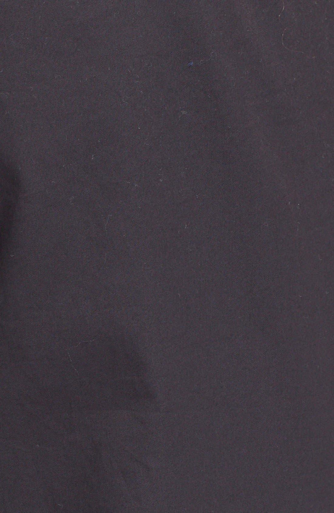 Cuffed Cotton Poplin Pants,                             Alternate thumbnail 3, color,                             001