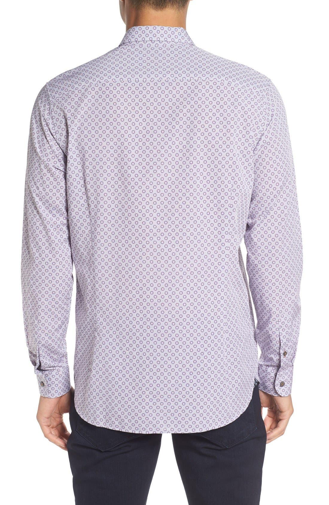 TED BAKER LONDON,                             'Thegril' Trim Fit Print Sport Shirt,                             Alternate thumbnail 2, color,                             510