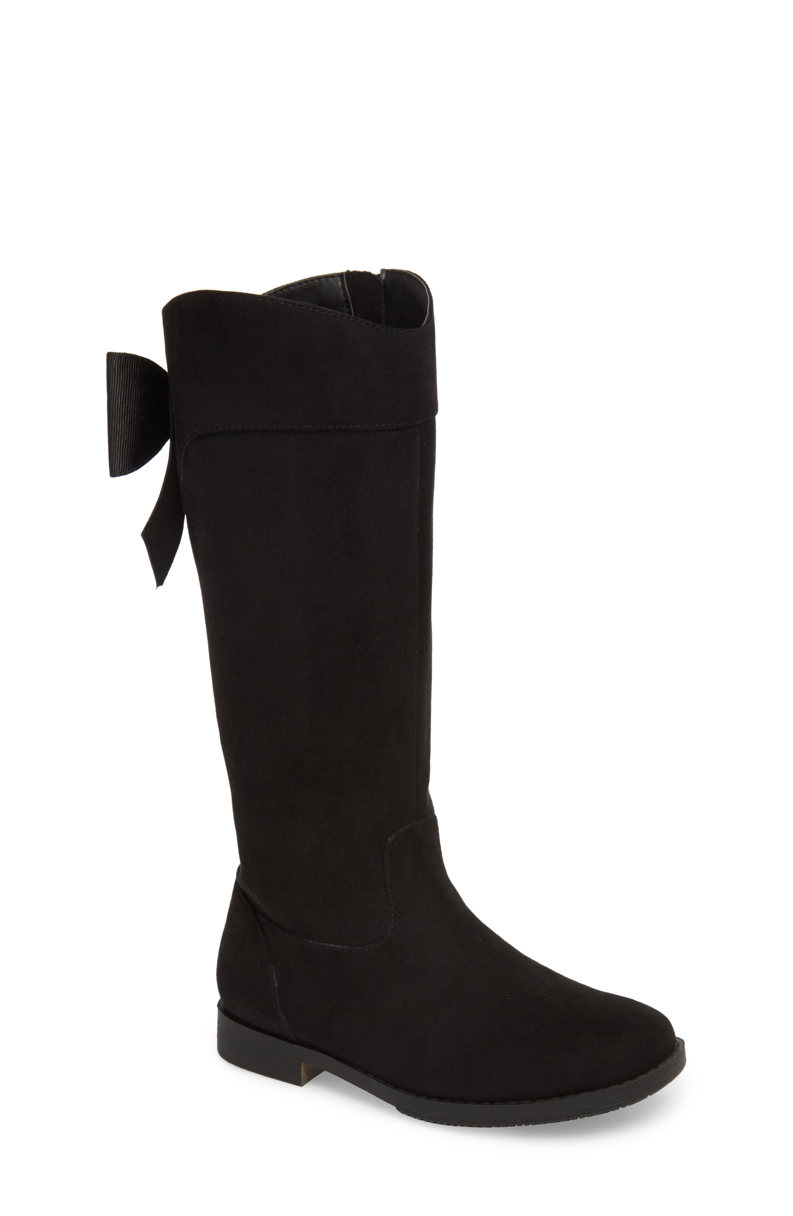 Kenneth Cole Collection Kennedy Bow Boot,                             Main thumbnail 1, color,                             BLACK