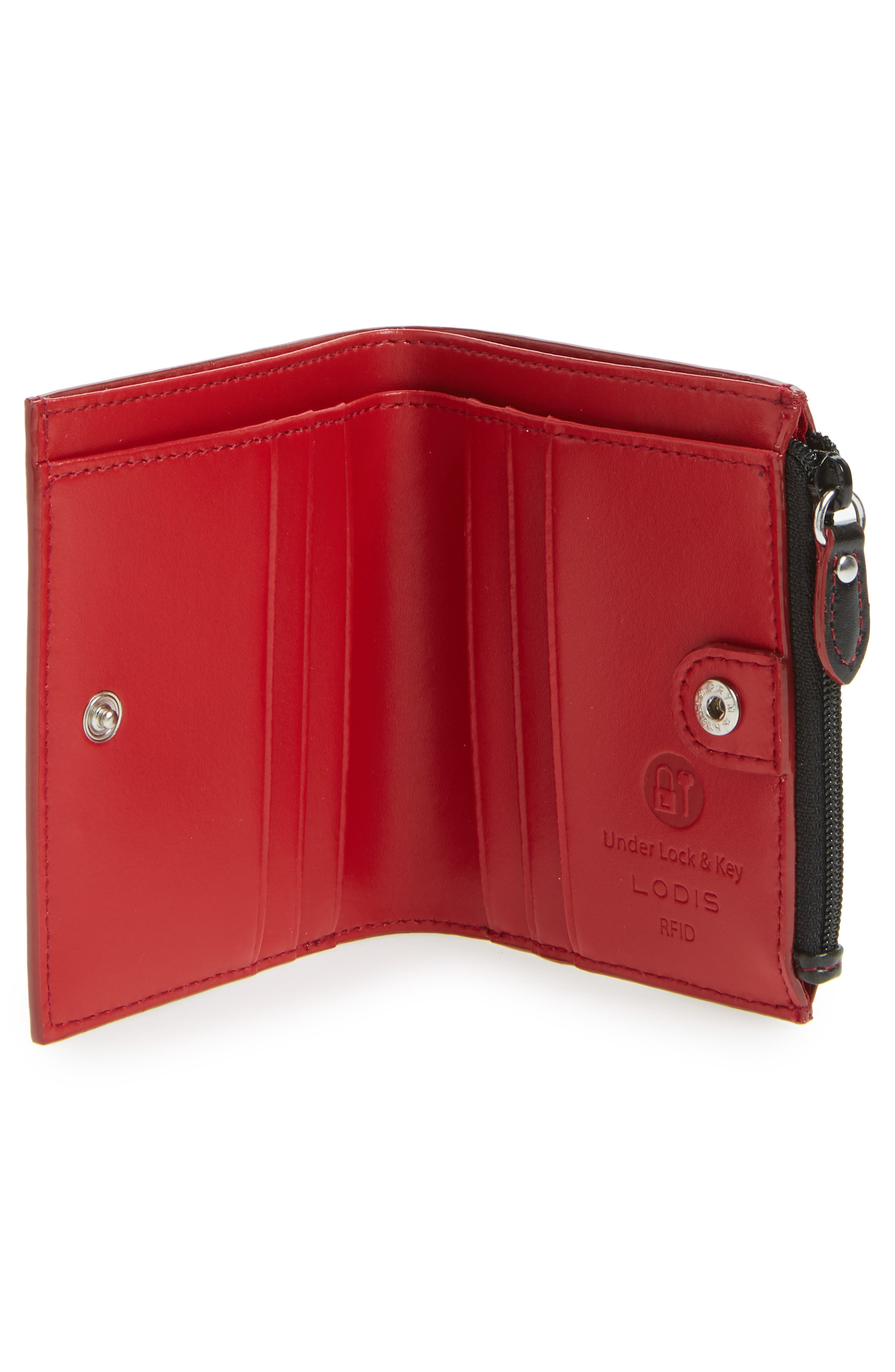 Audrey Under Lock & Key Aldis Leather Wallet,                             Alternate thumbnail 4, color,
