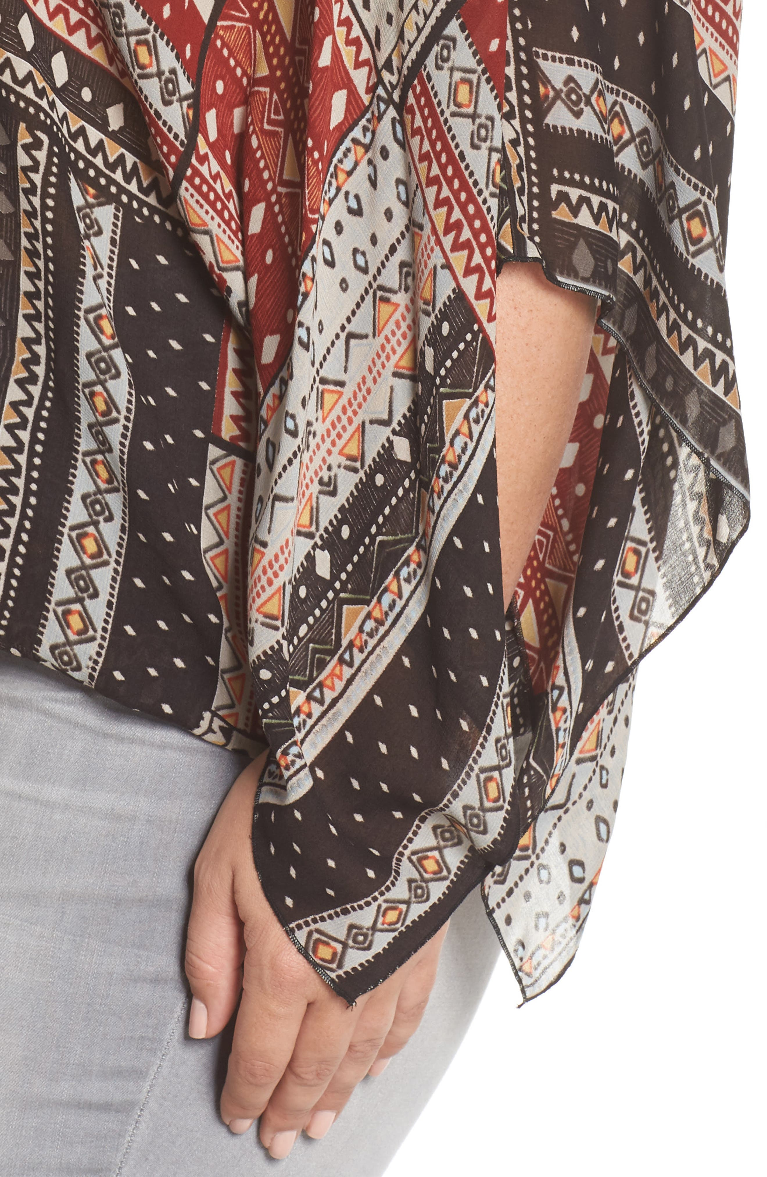 Poncho Top,                             Alternate thumbnail 4, color,                             209
