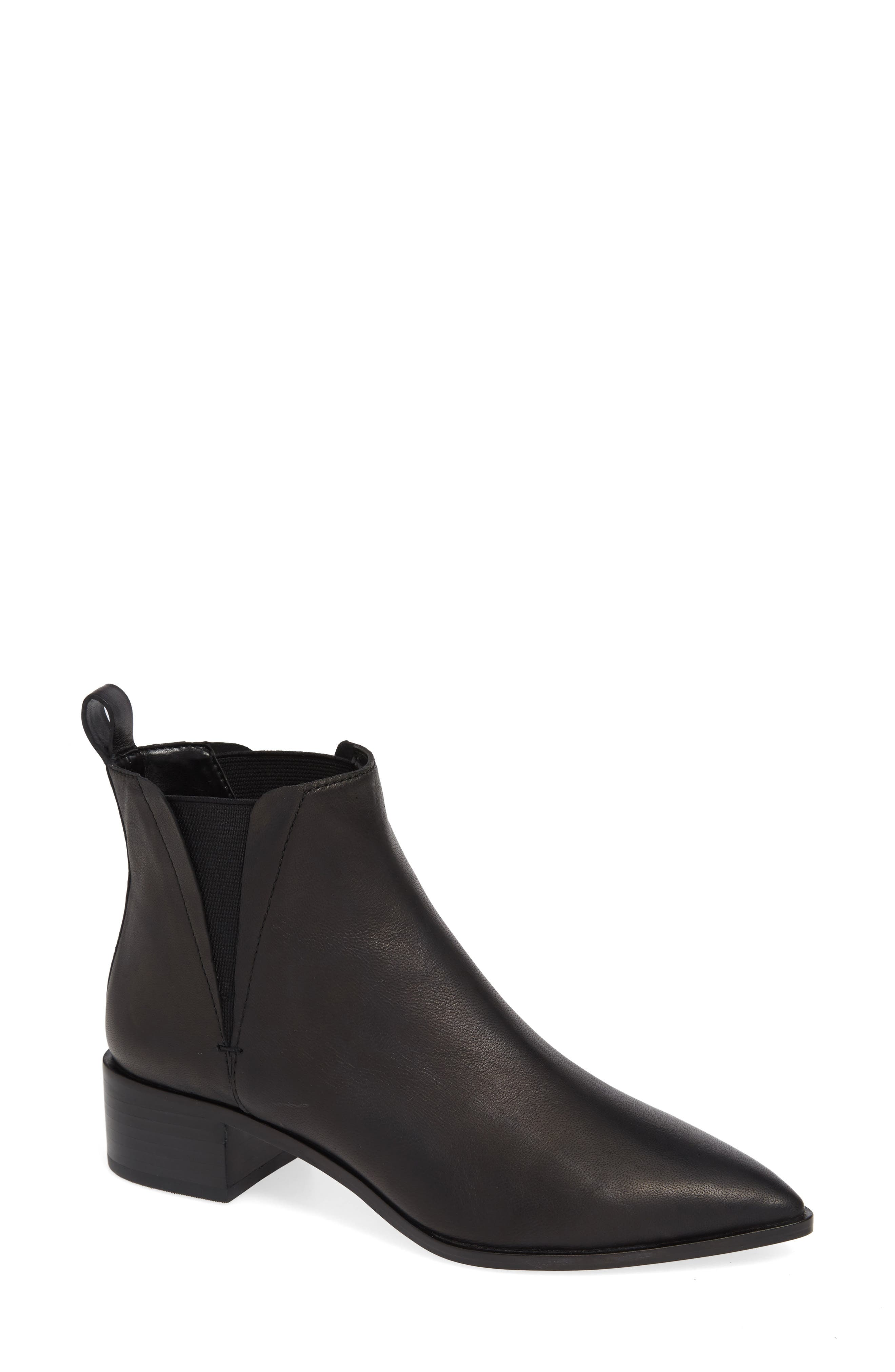 Taylor Bootie,                             Main thumbnail 1, color,                             BLACK LEATHER