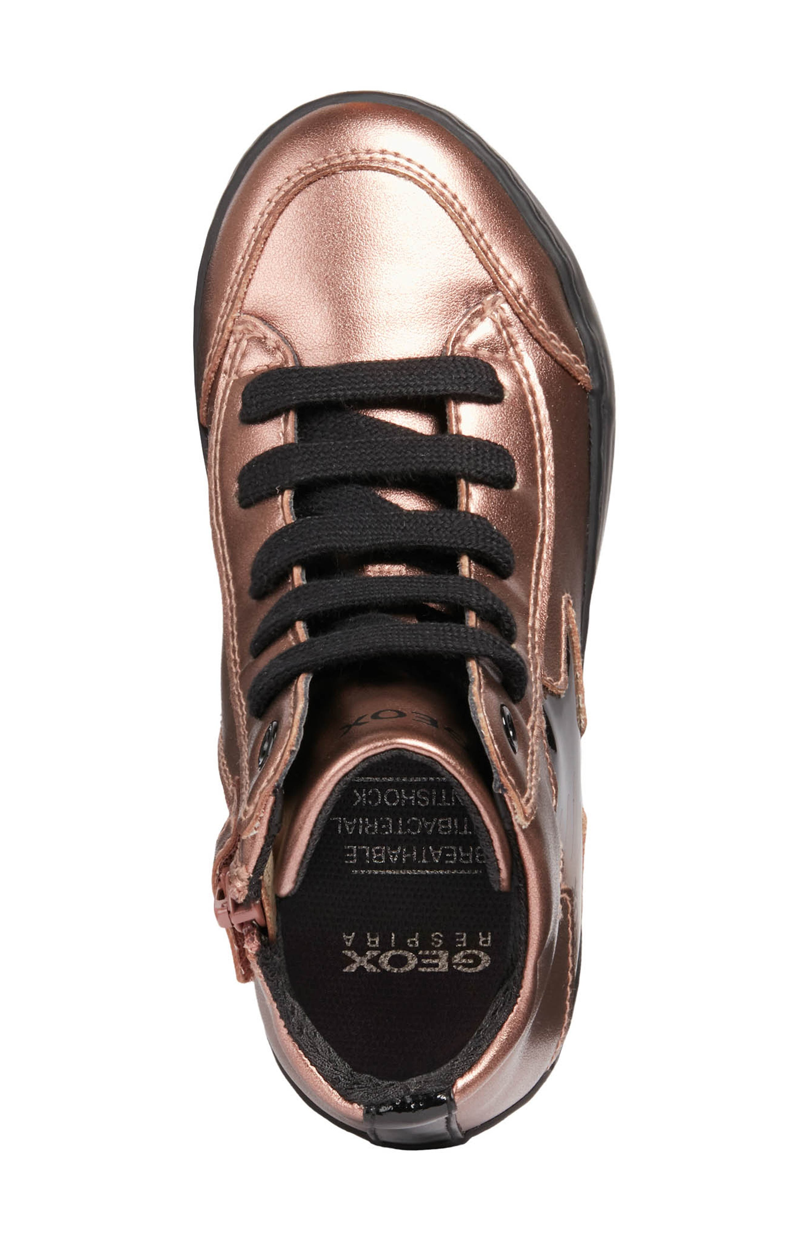 Kalispera Metallic High Top Sneaker,                             Alternate thumbnail 5, color,                             ROSE SMOKE