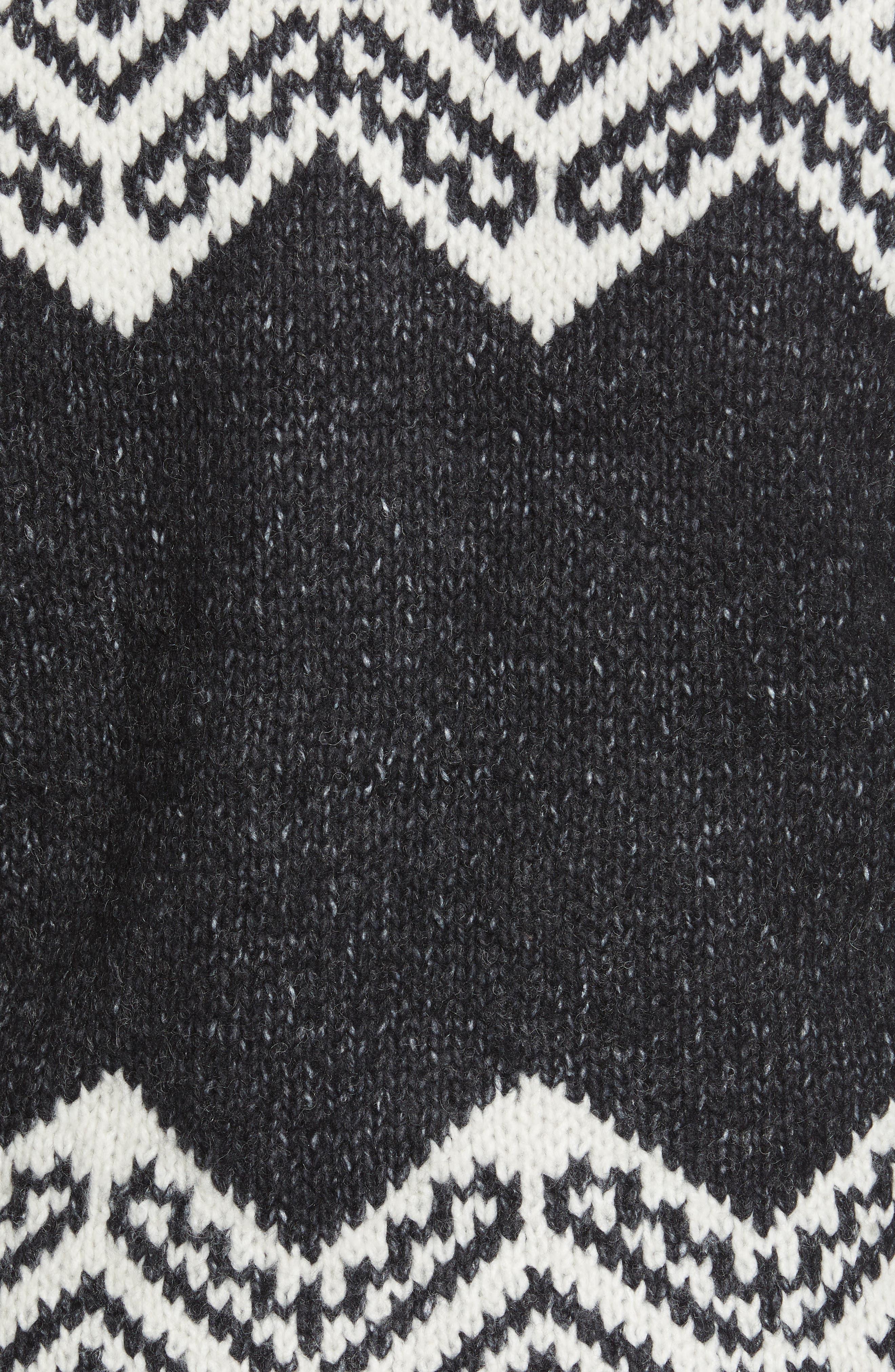 Pattern Colorblock Open Cardigan,                             Alternate thumbnail 5, color,                             154