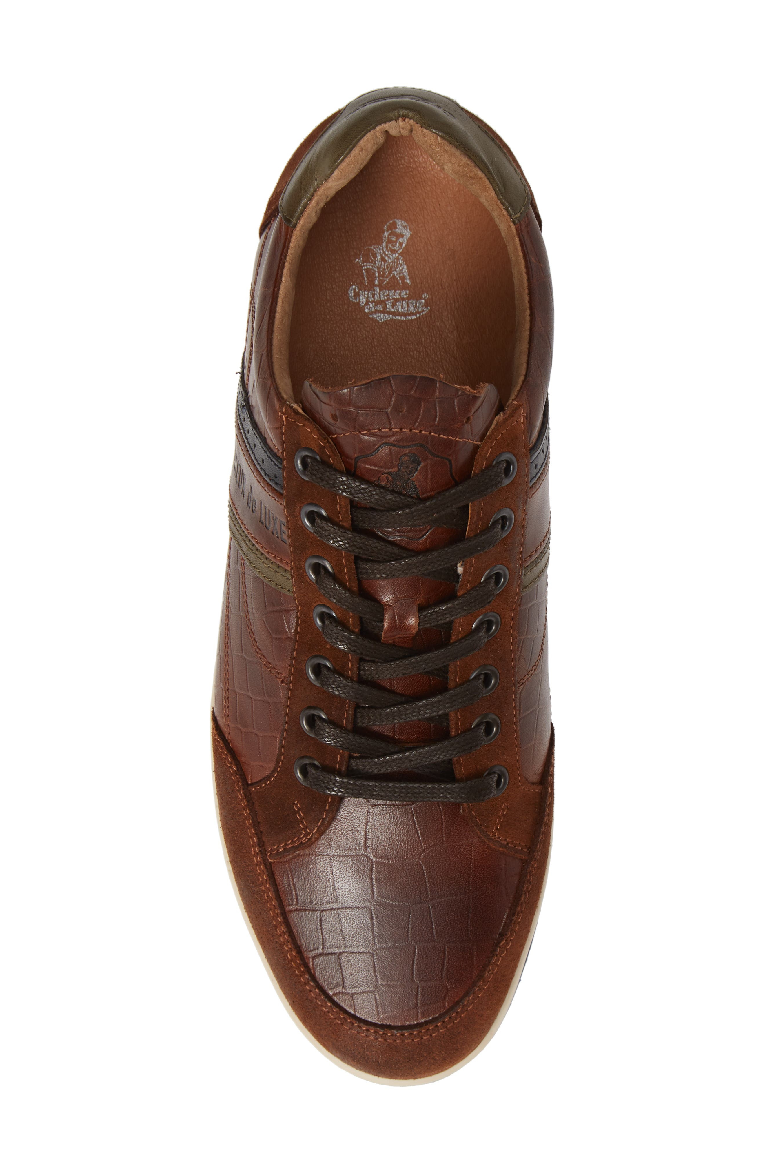 Preston Sneaker,                             Alternate thumbnail 5, color,                             COGNAC