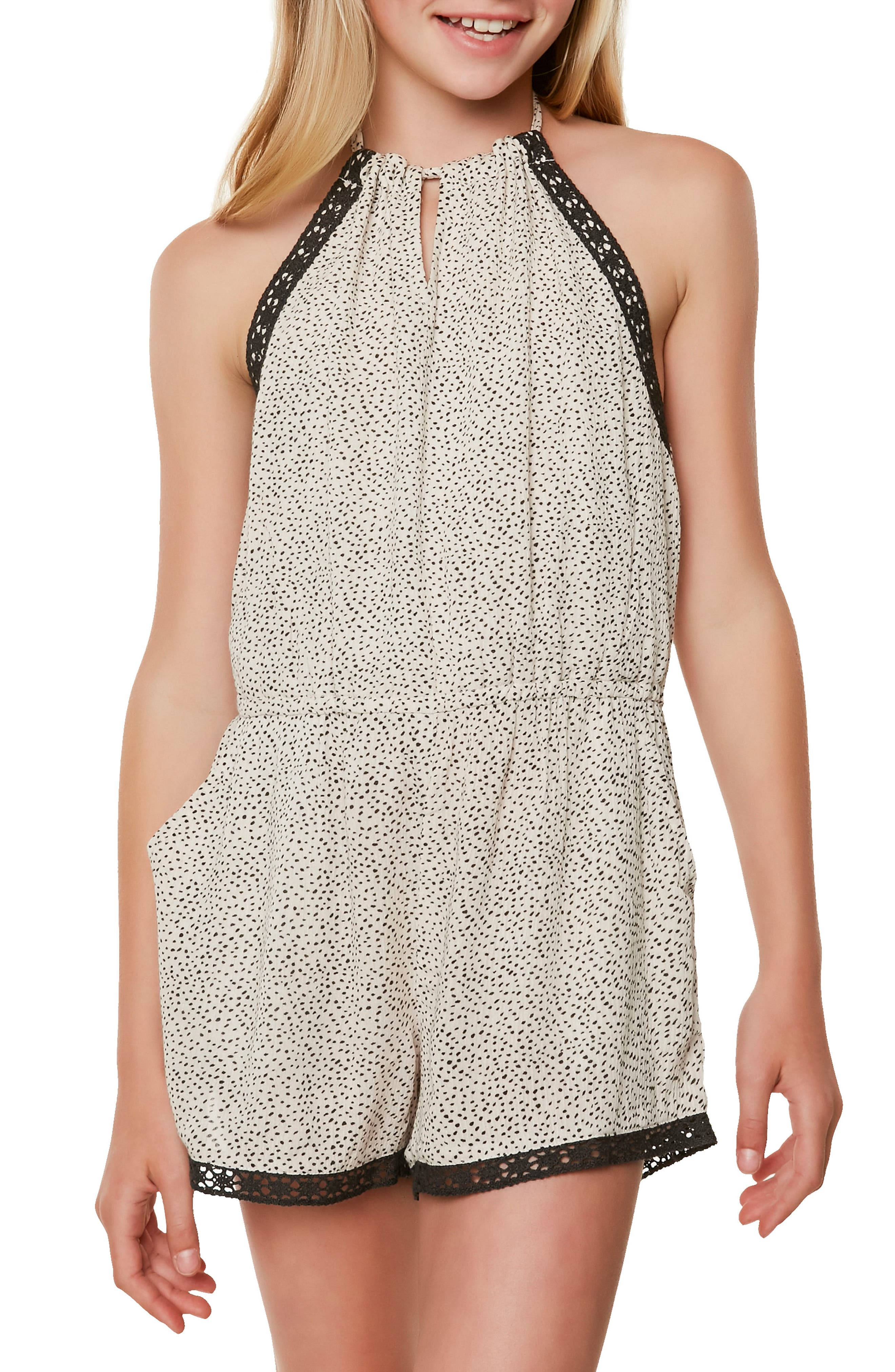 Donna Print Romper,                             Alternate thumbnail 3, color,