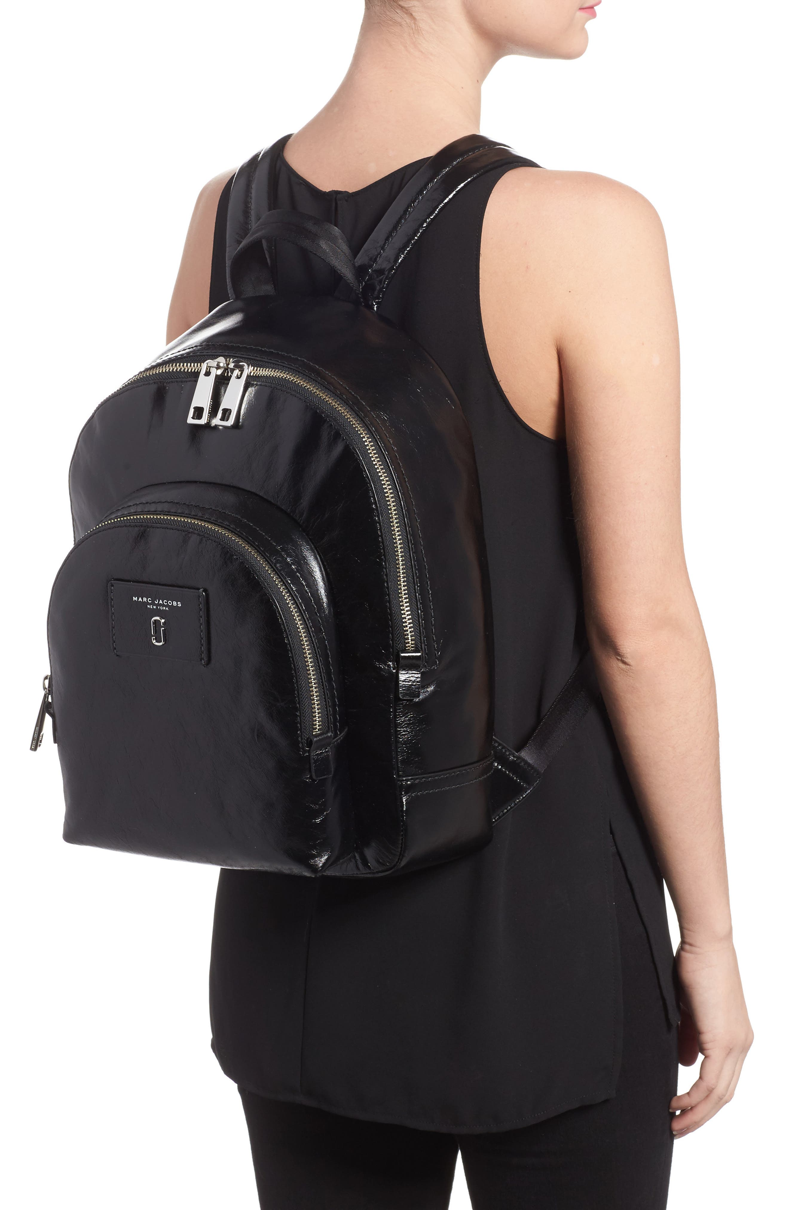 Double Pack Leather Backpack,                             Alternate thumbnail 2, color,
