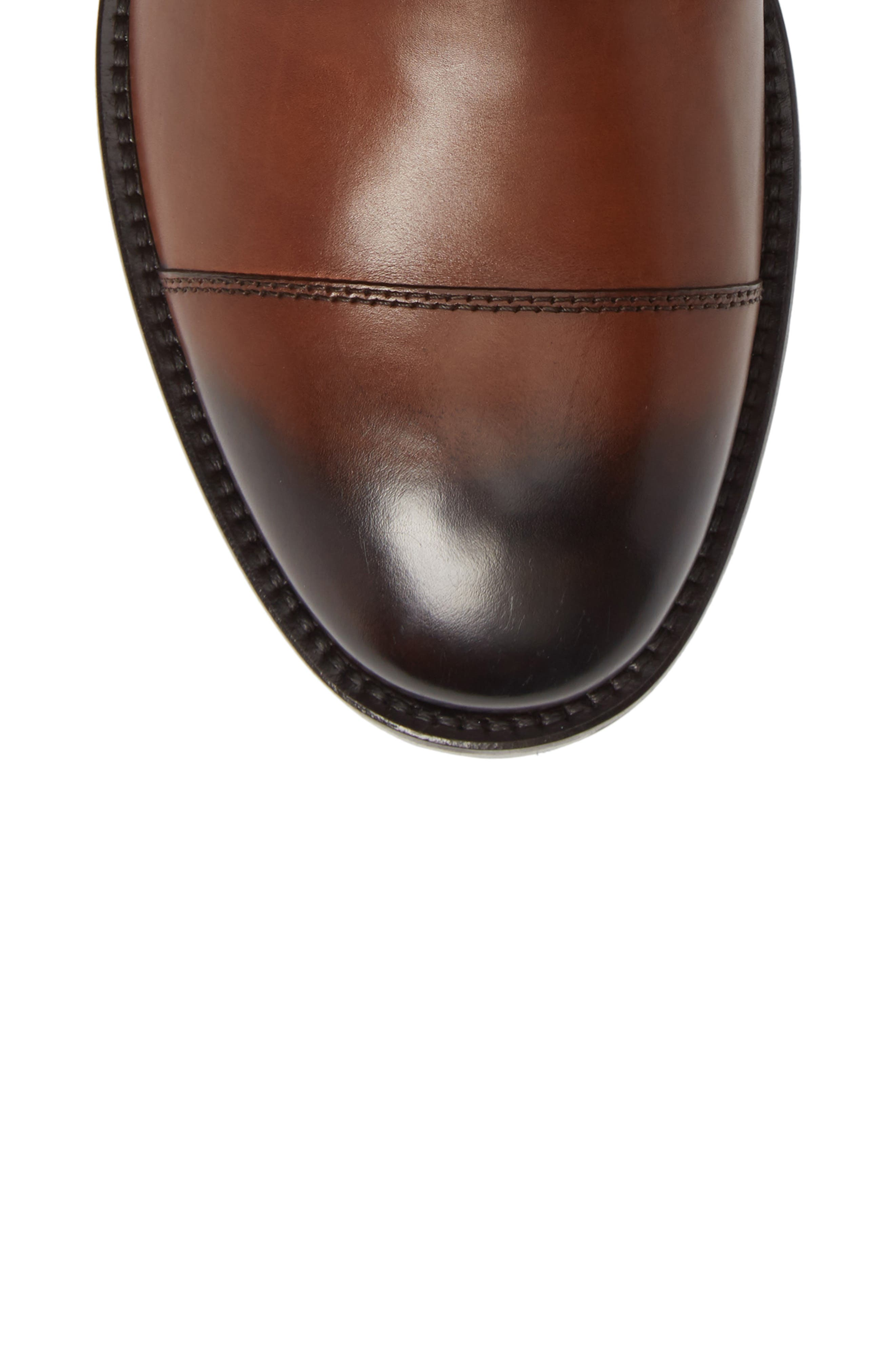 Concord Cap Toe Boot,                             Alternate thumbnail 5, color,                             BROWN LEATHER