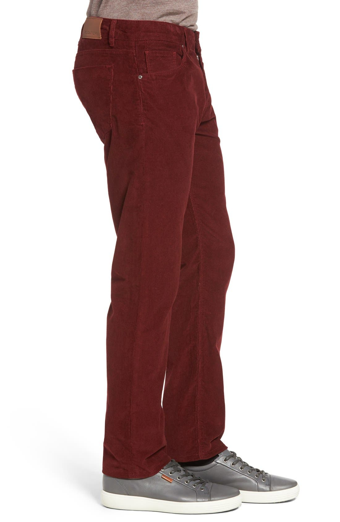 Slim Fit Corduroy Pants,                             Alternate thumbnail 18, color,