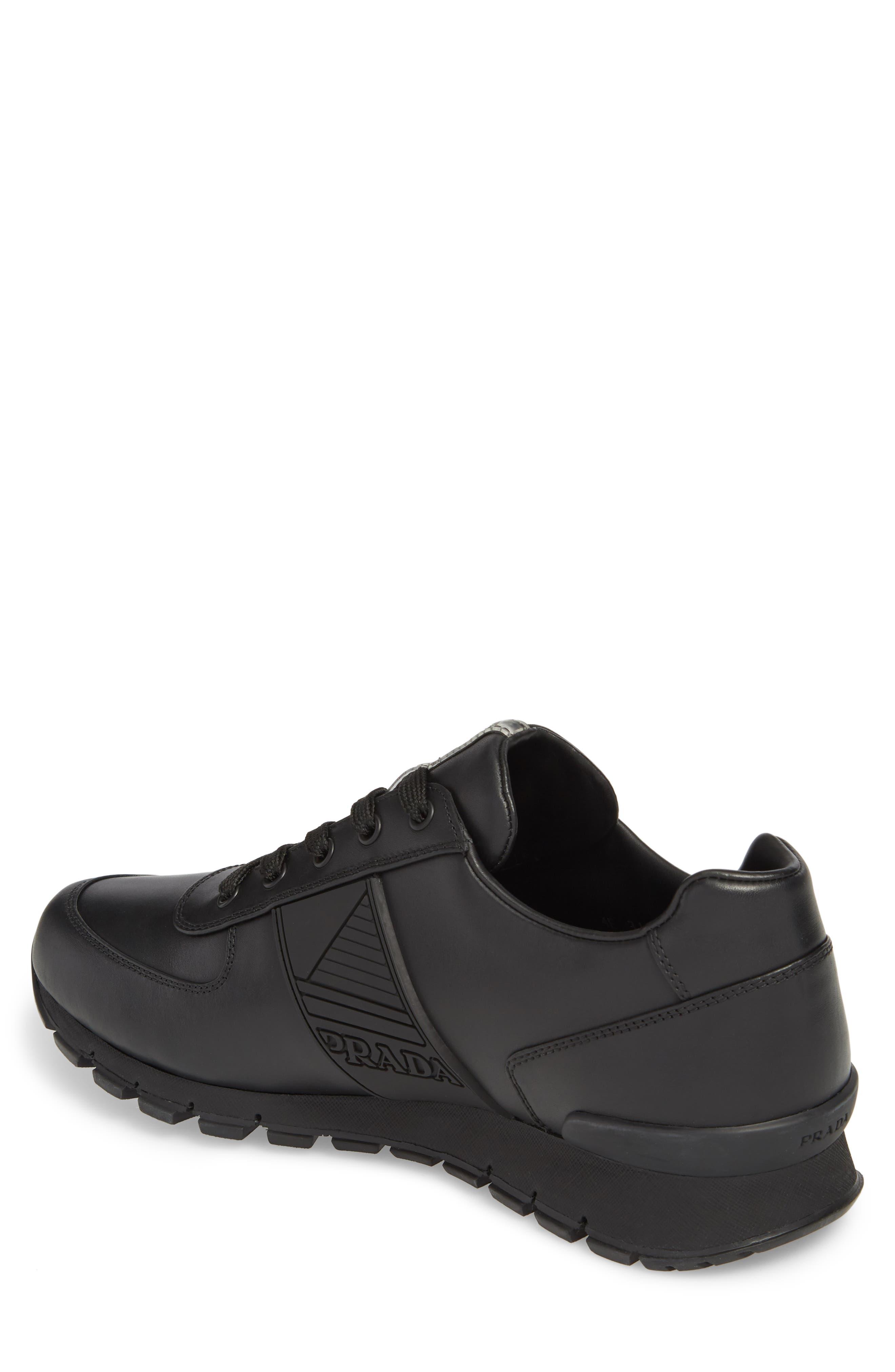 PRADA,                             Linea Rossa Sneaker,                             Alternate thumbnail 2, color,                             001