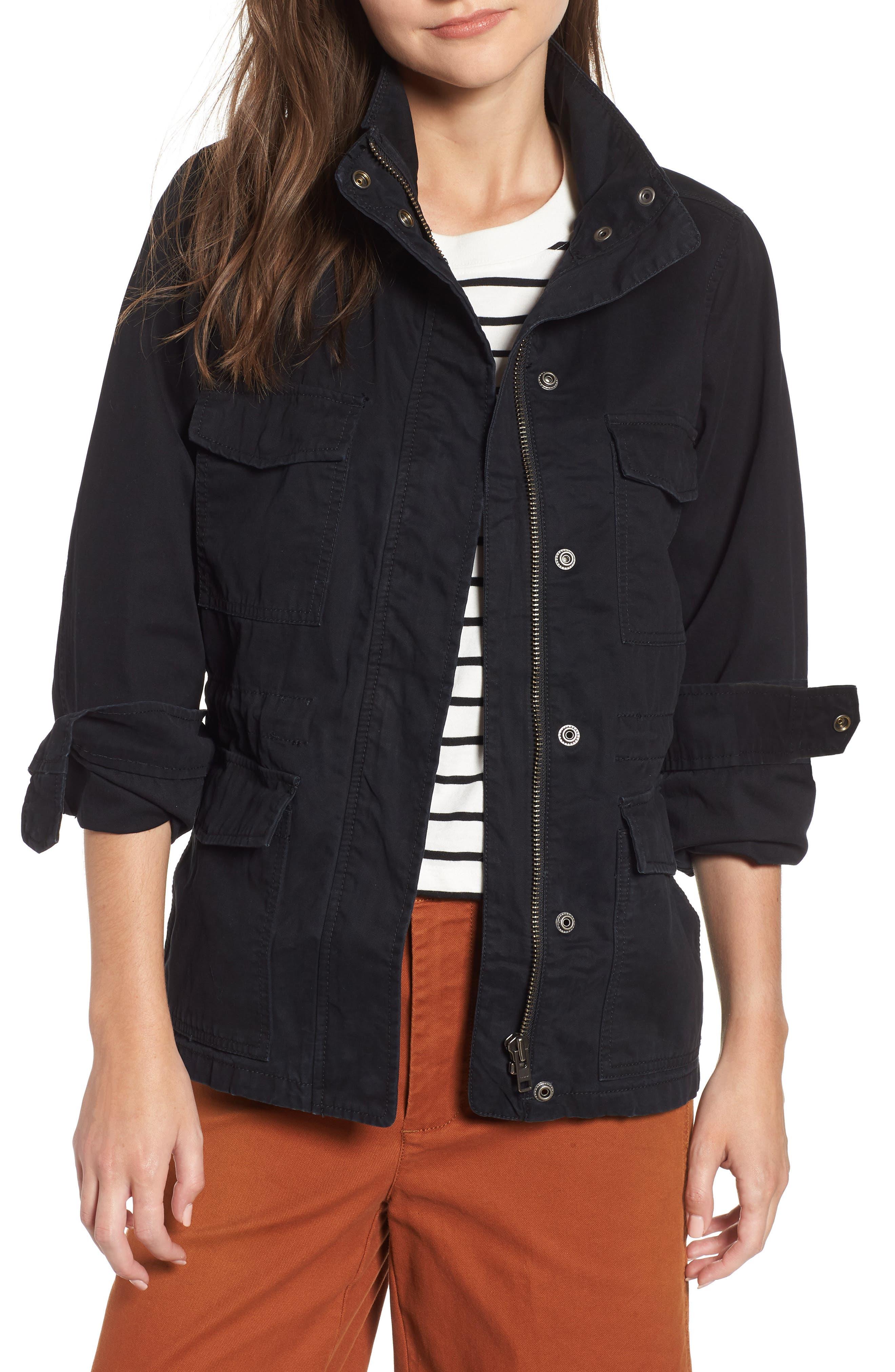 Surplus Jacket,                             Main thumbnail 1, color,                             TRUE BLACK