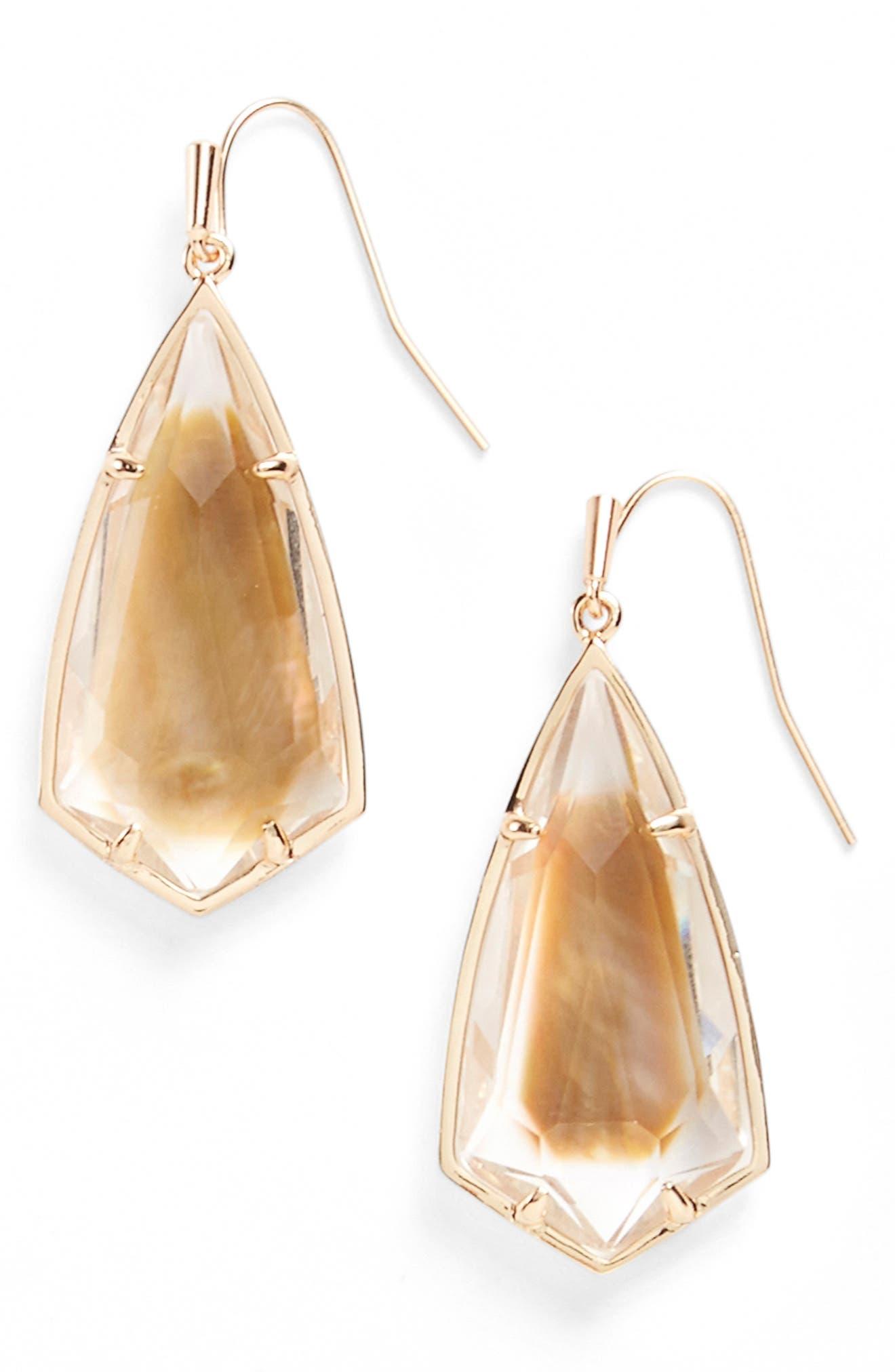 Carla Semiprecious Stone Drop Earrings,                             Alternate thumbnail 24, color,
