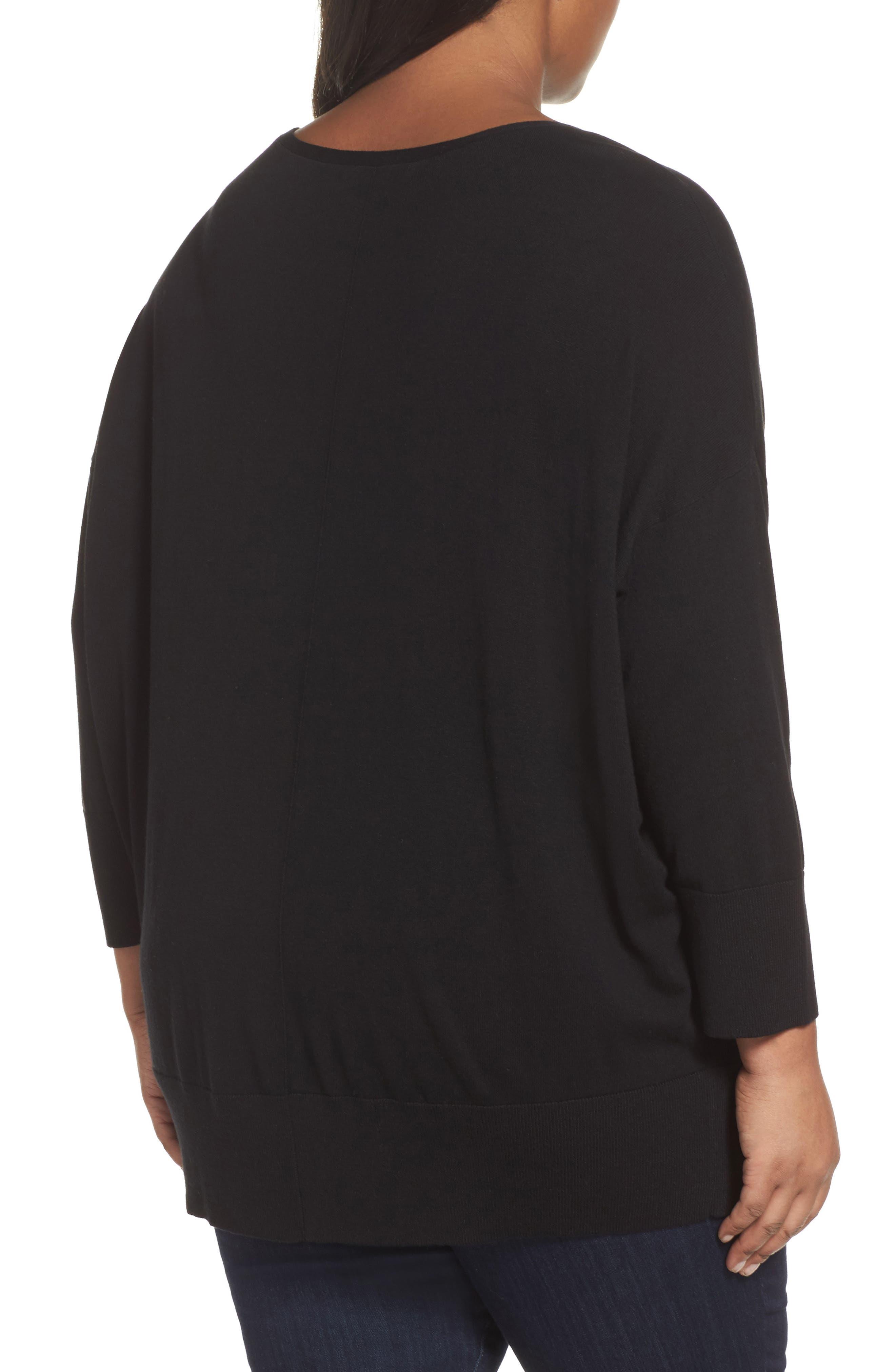 Dolman Sleeve Sweater,                             Alternate thumbnail 2, color,                             001