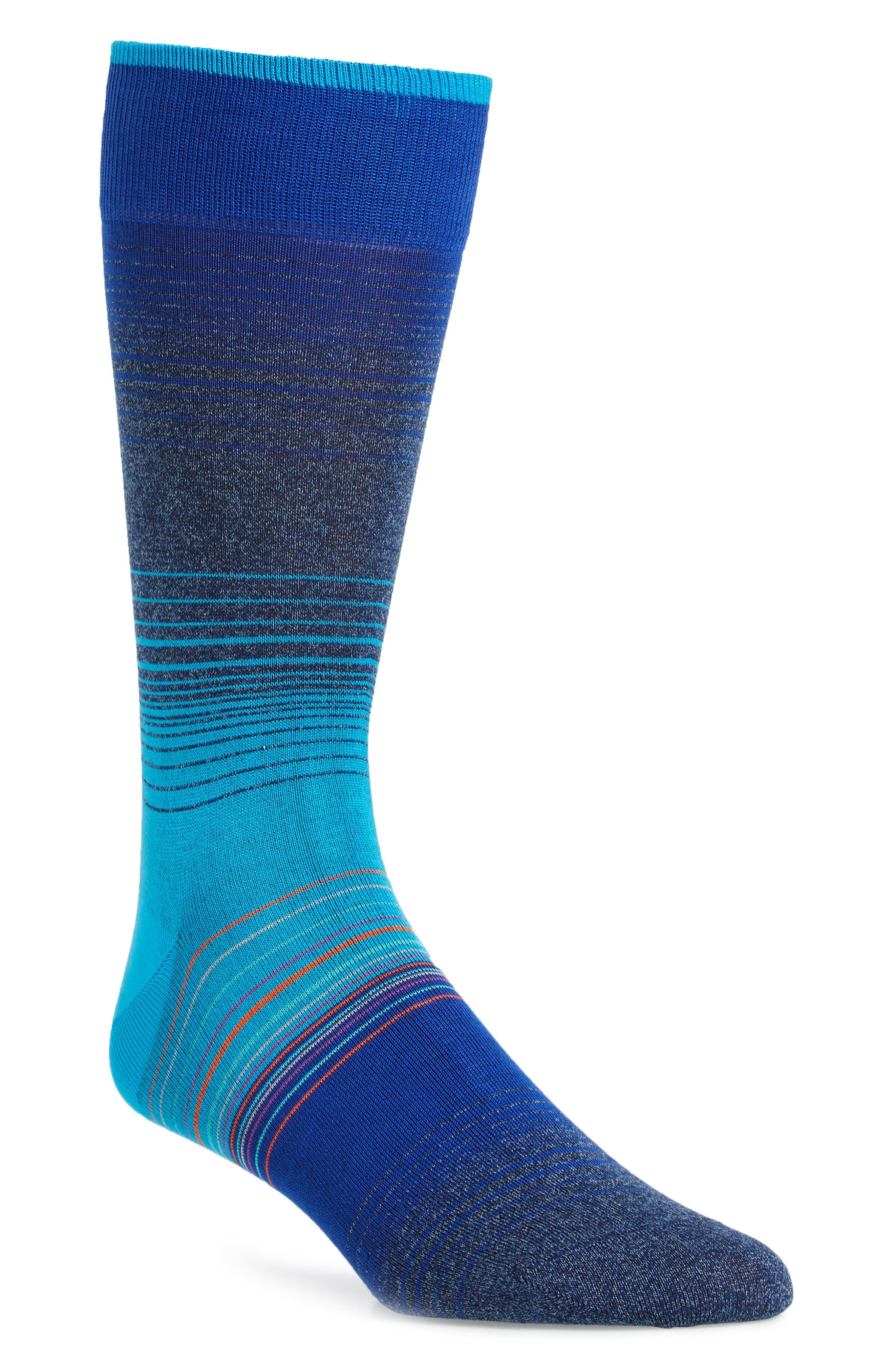 Ombré Stripes Crew Socks,                             Main thumbnail 2, color,