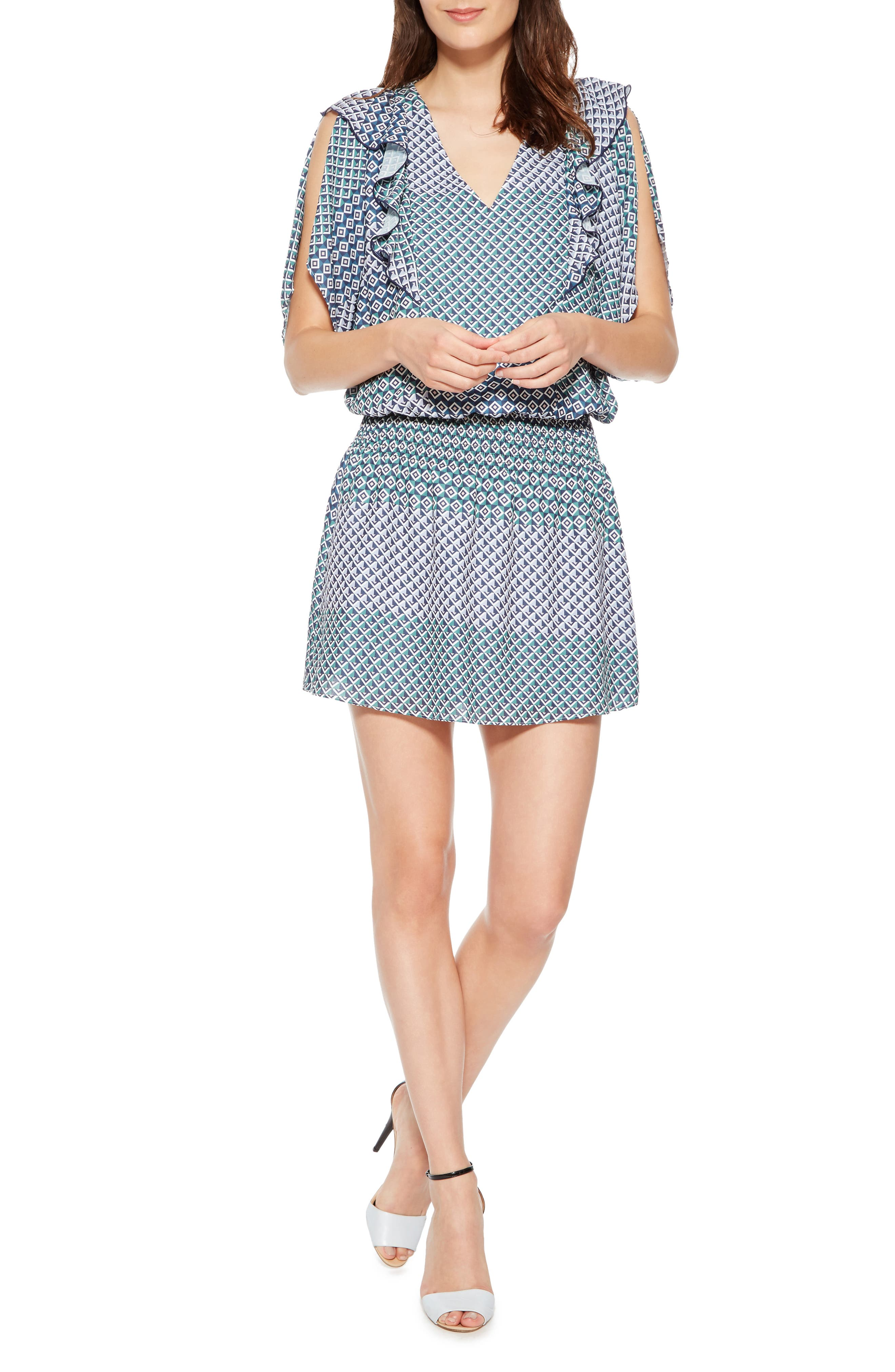 Luisa Print Dress,                             Main thumbnail 1, color,                             CESE