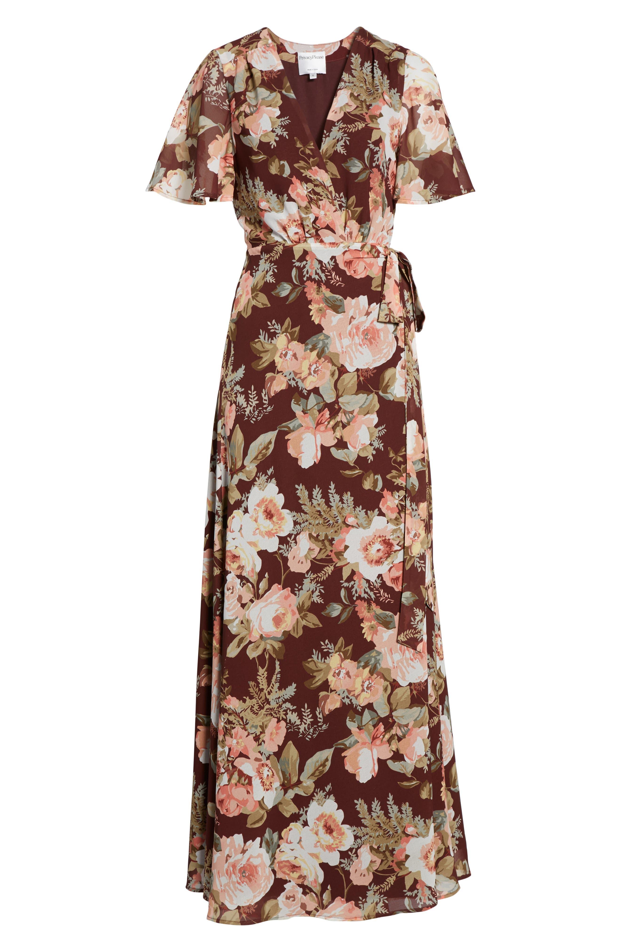 Plaza Wrap Maxi Dress,                             Alternate thumbnail 12, color,