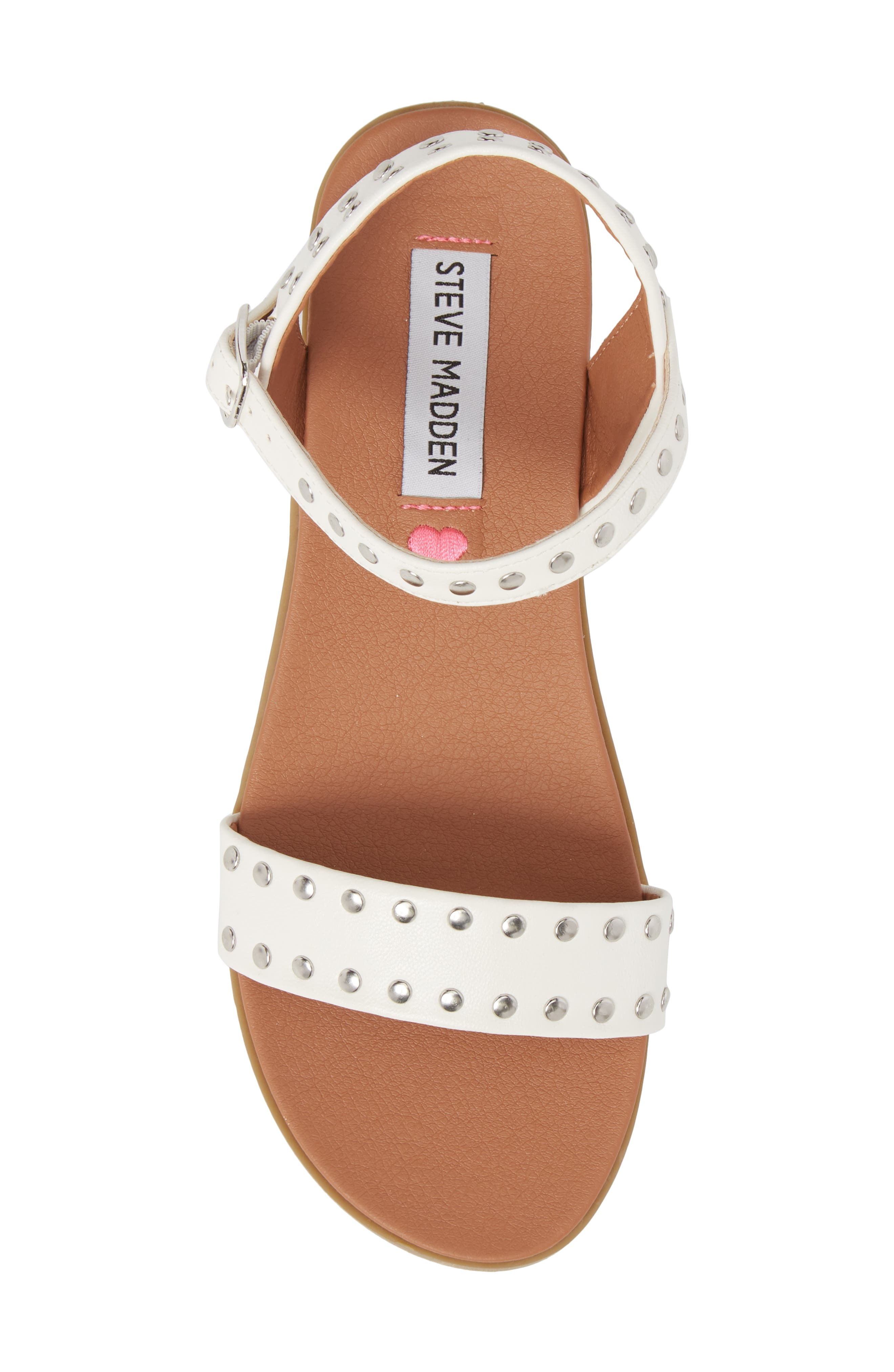 JDONDI Studded Sandal,                             Alternate thumbnail 5, color,                             WHITE