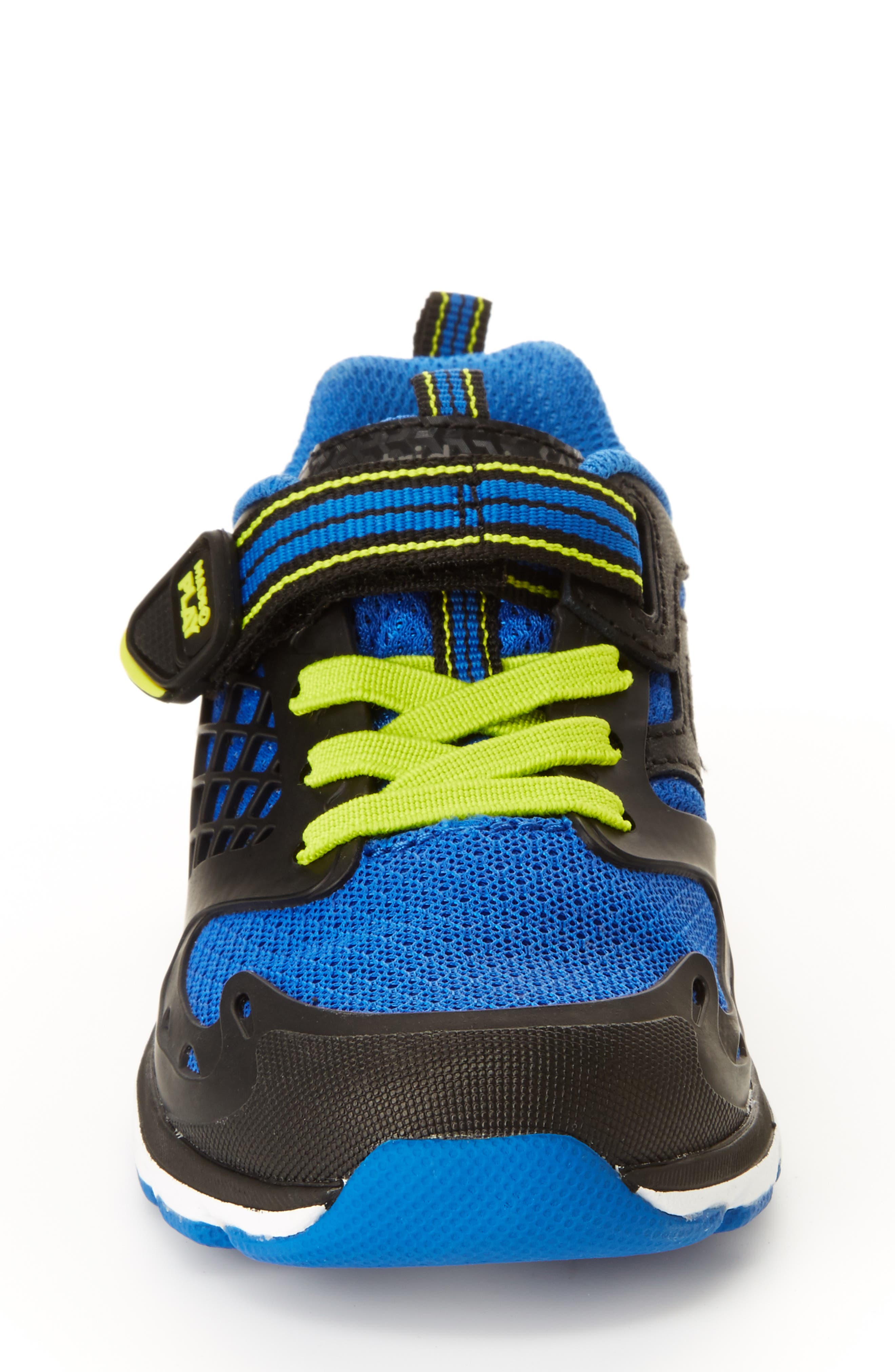 Made 2 Play Breccen Sneaker,                             Alternate thumbnail 3, color,                             BLACK/ LIME