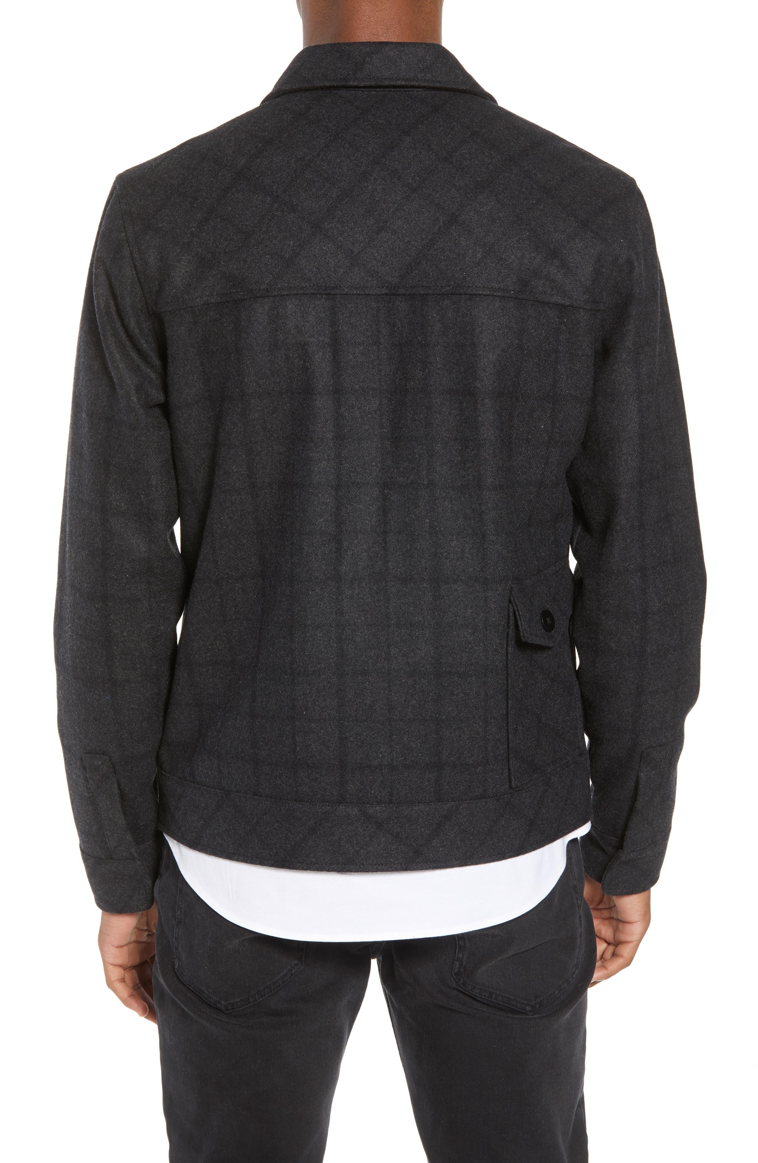 Plaid Jacket,                             Alternate thumbnail 2, color,                             BLACK