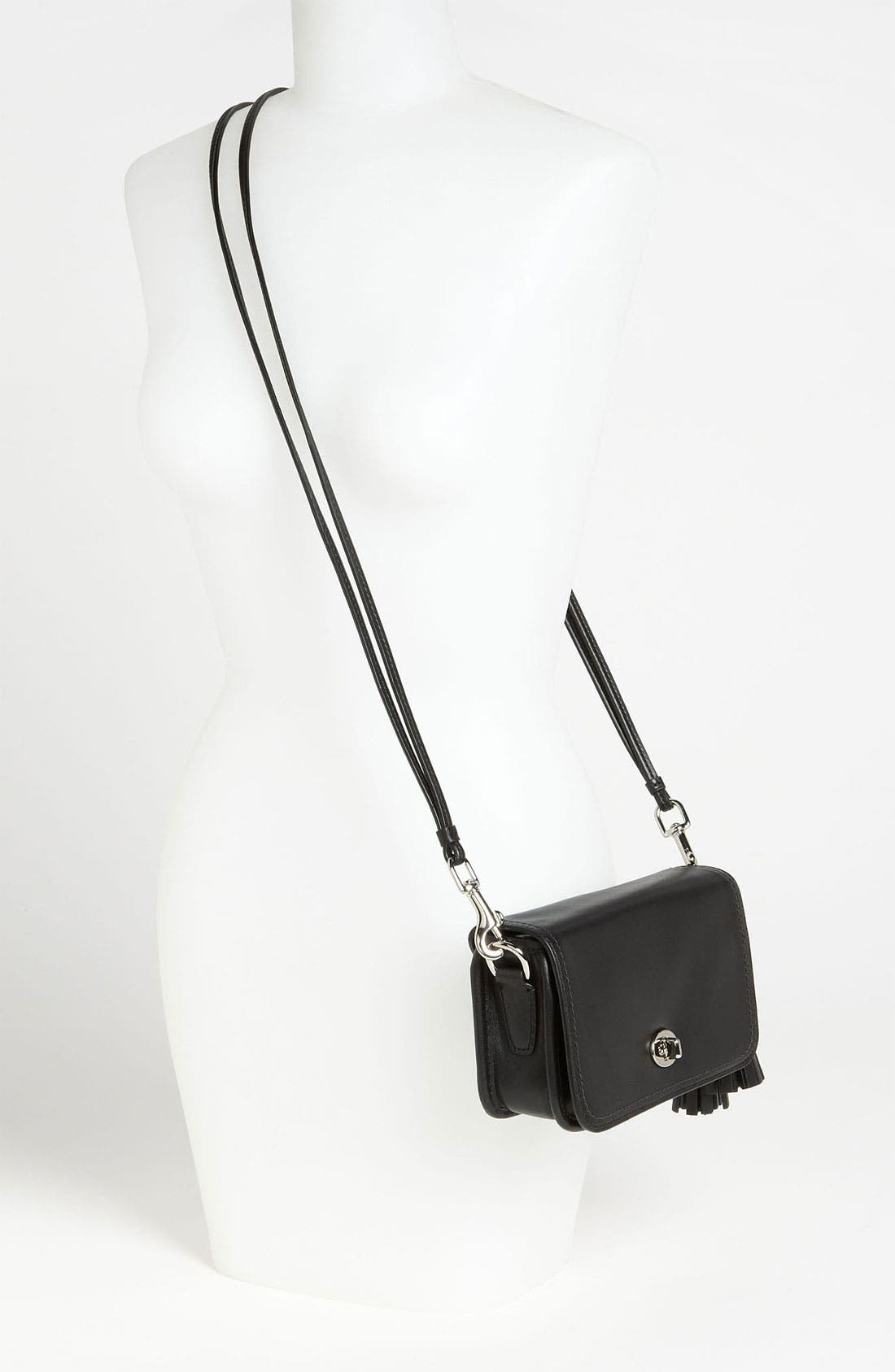 Leather Crossbody Bag,                             Alternate thumbnail 4, color,                             045