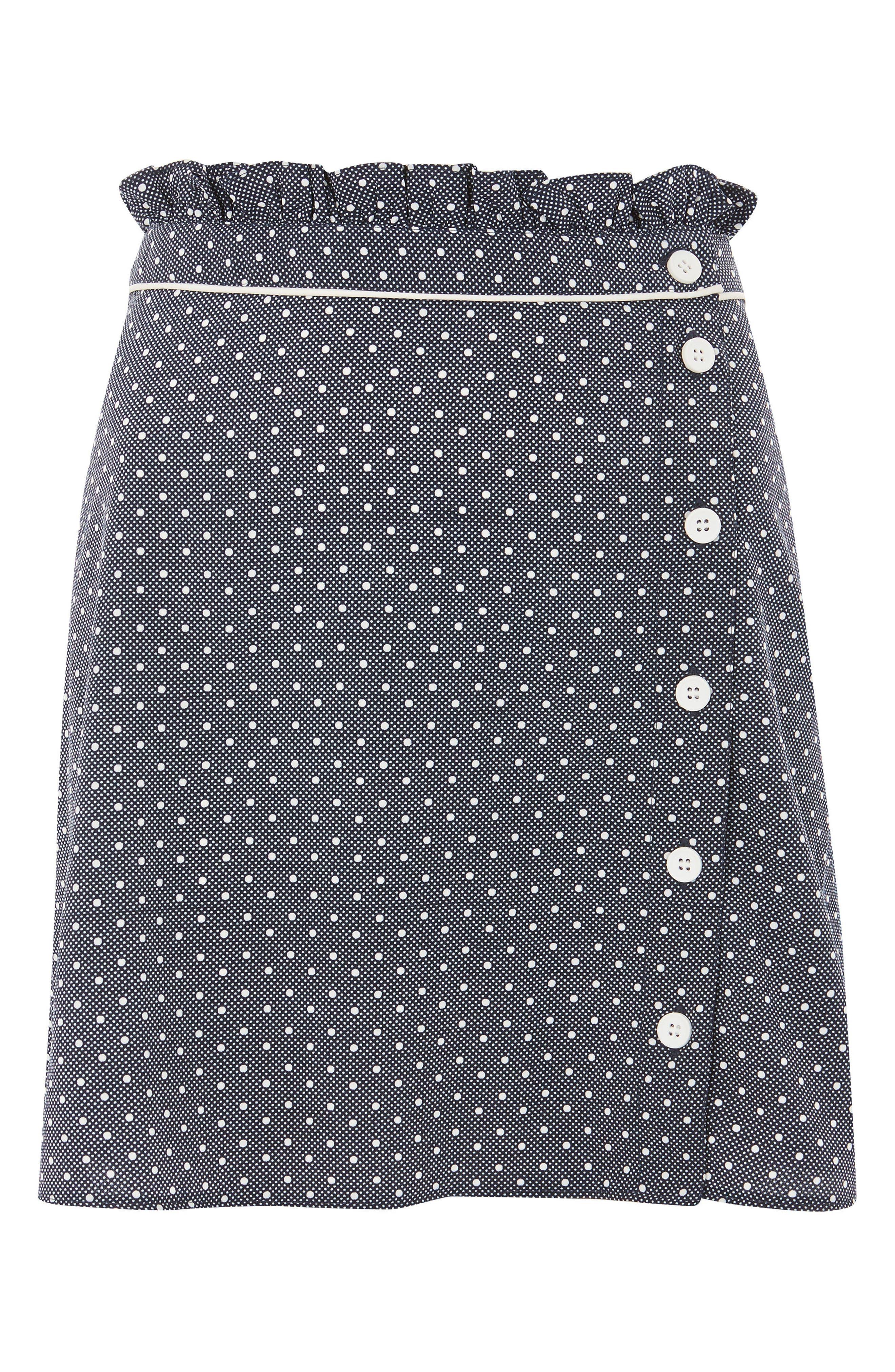 Spot Ruffle Miniskirt,                             Alternate thumbnail 3, color,                             411