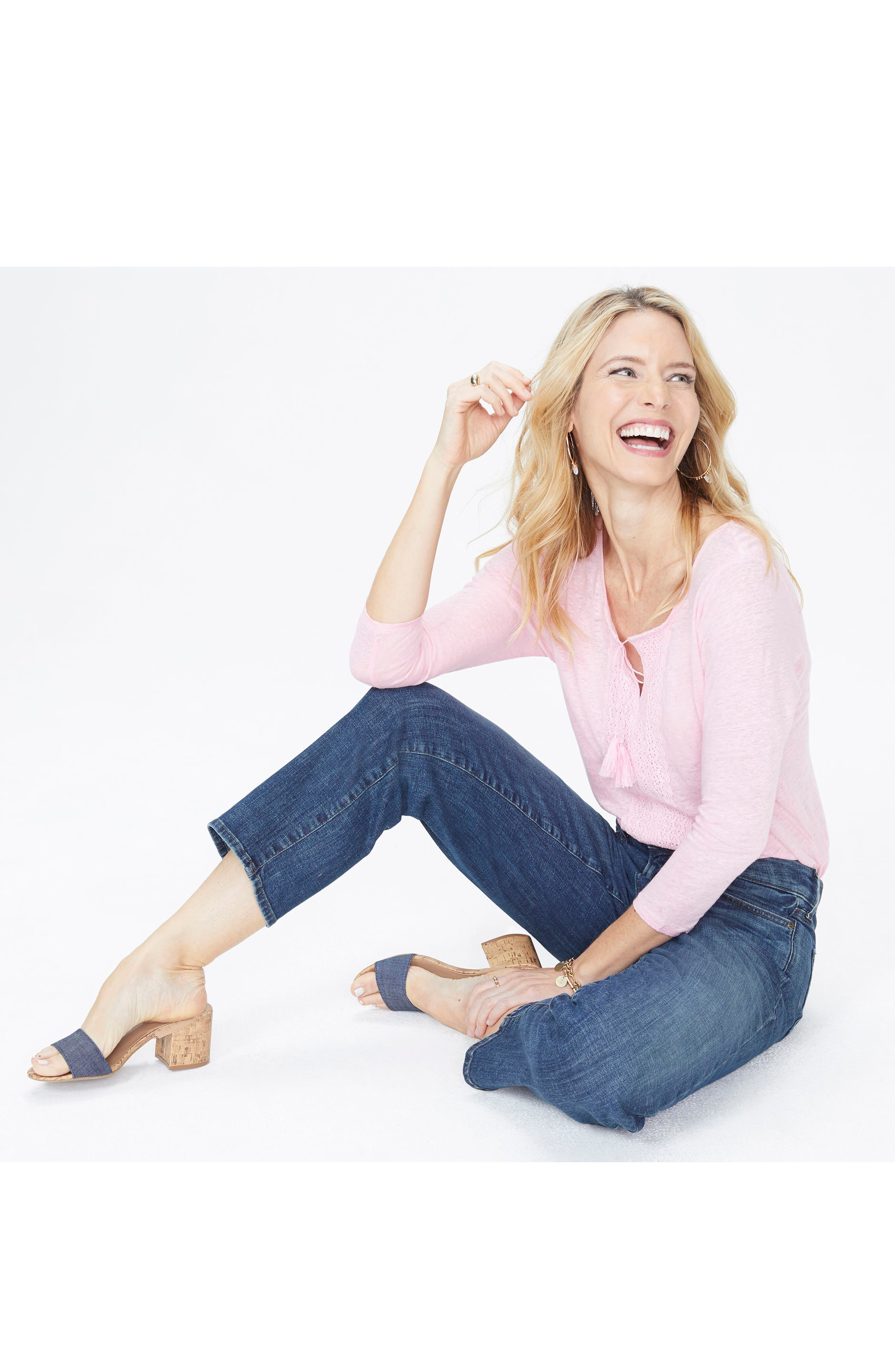Jenna Straight Leg Ankle Jeans,                             Alternate thumbnail 3, color,                             420