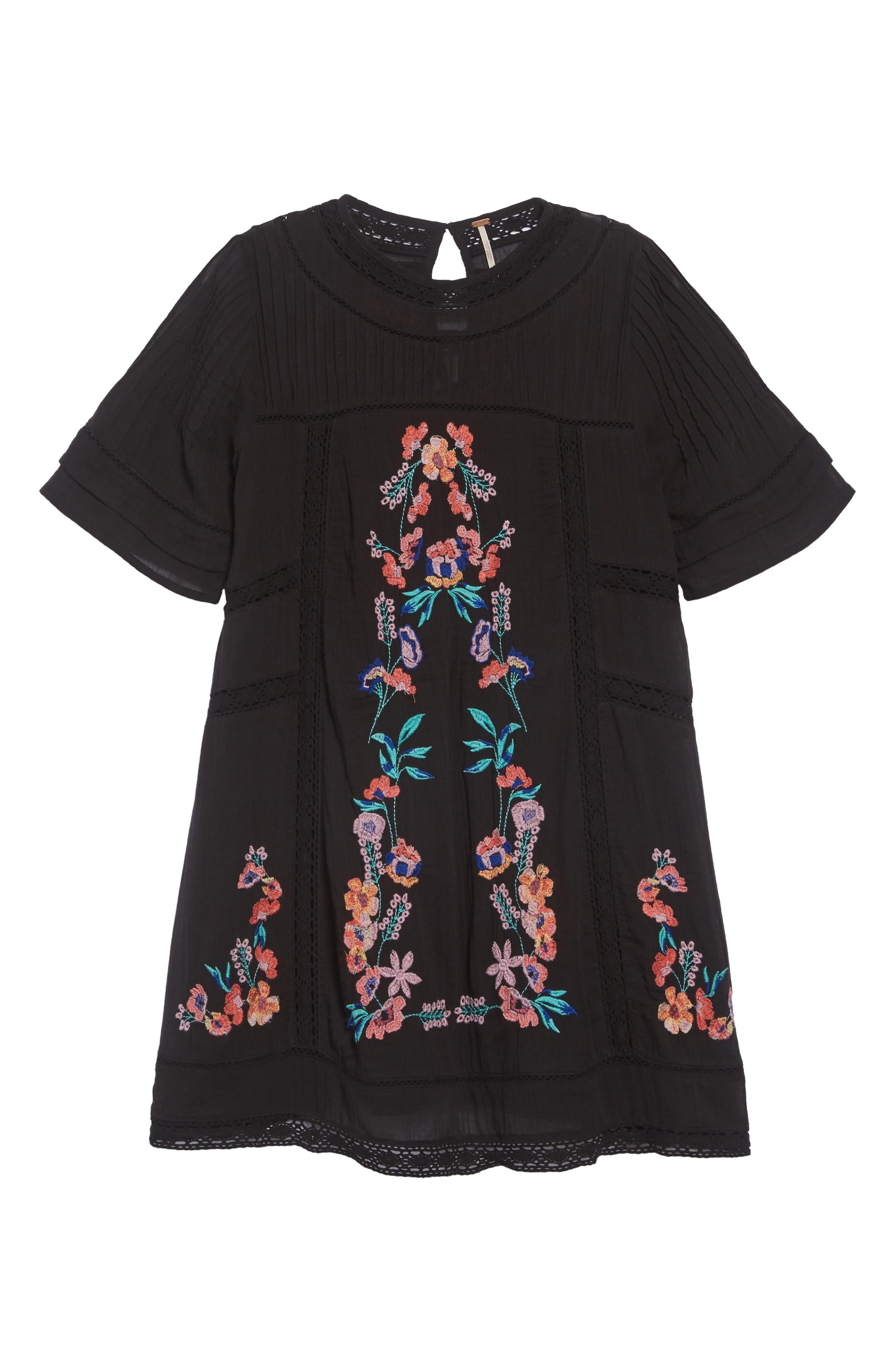 'Perfectly Victorian' Minidress,                             Alternate thumbnail 2, color,                             BLACK