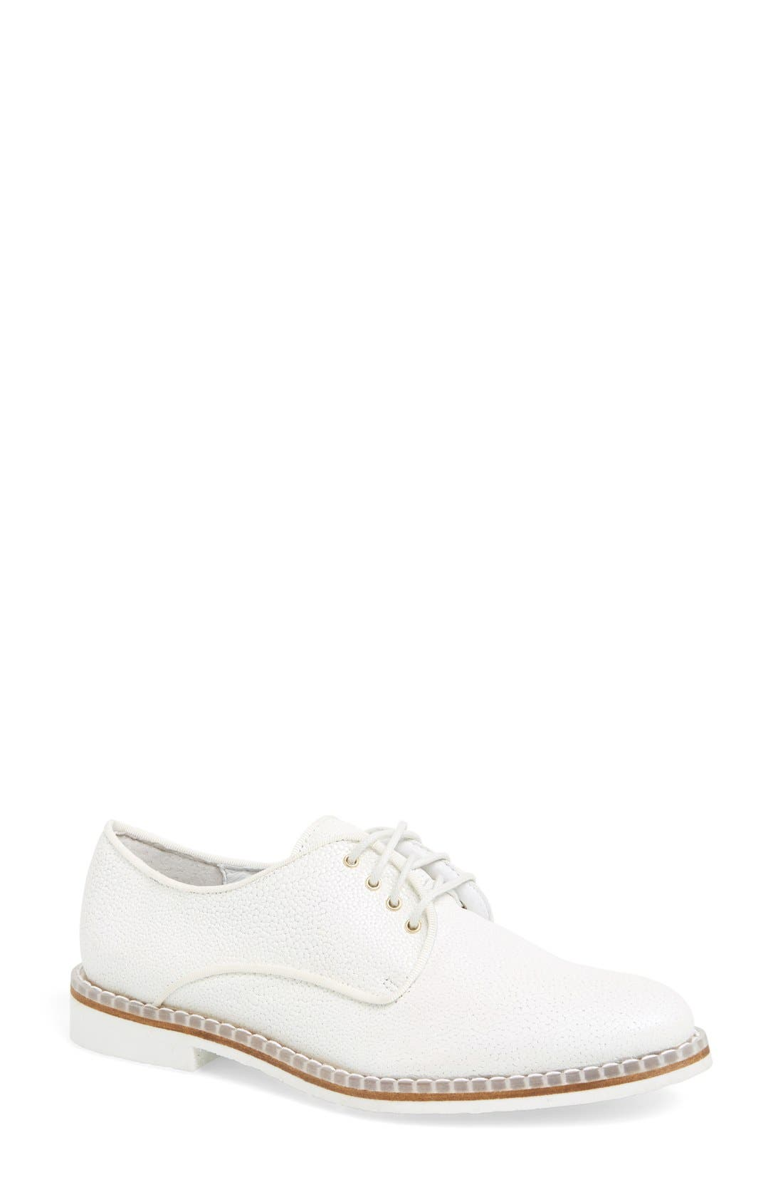 'Zoe' Stingray Embossed Leather Oxford,                             Main thumbnail 1, color,