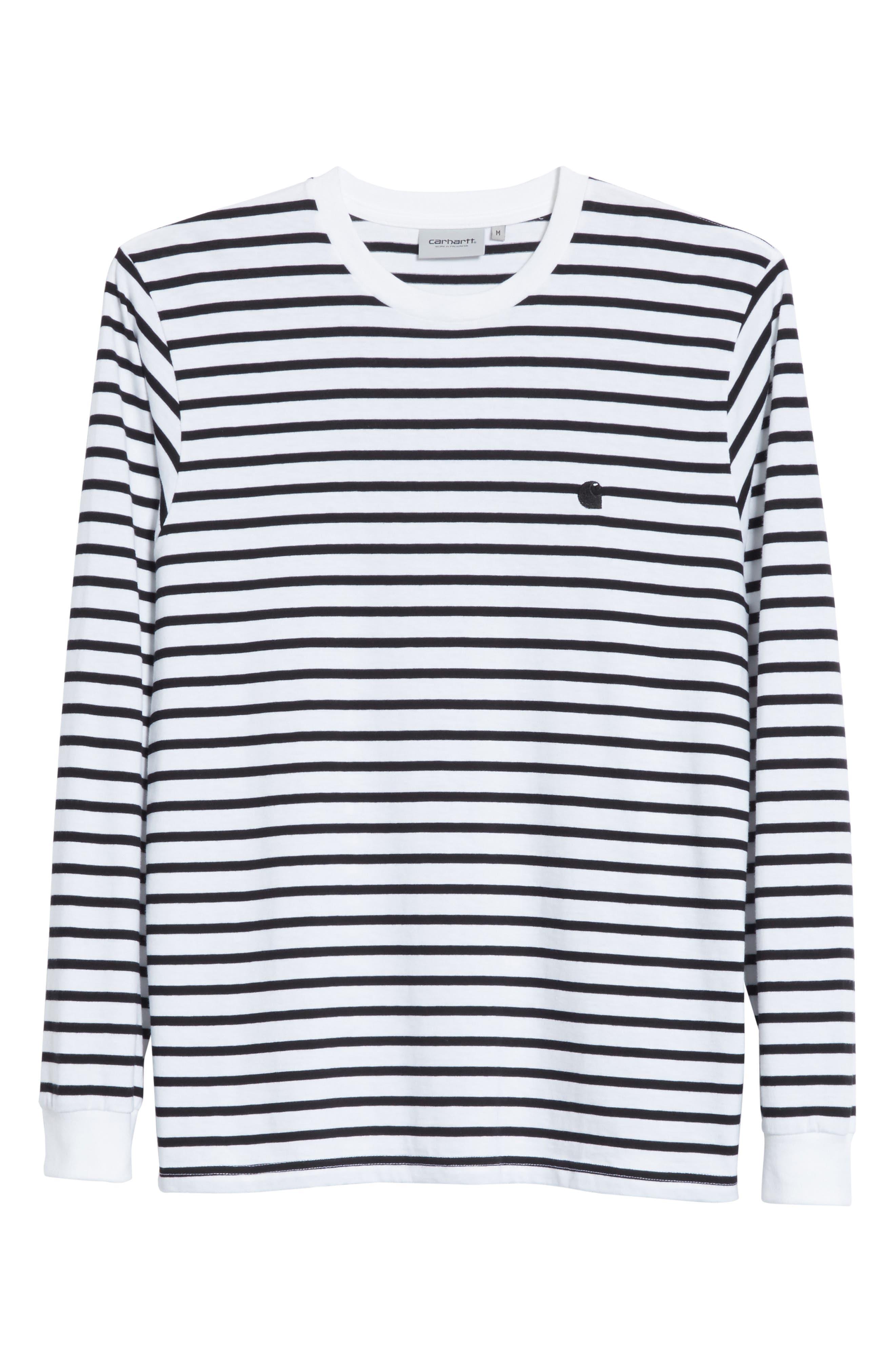Stripe Long Sleeve T-Shirt,                             Alternate thumbnail 6, color,