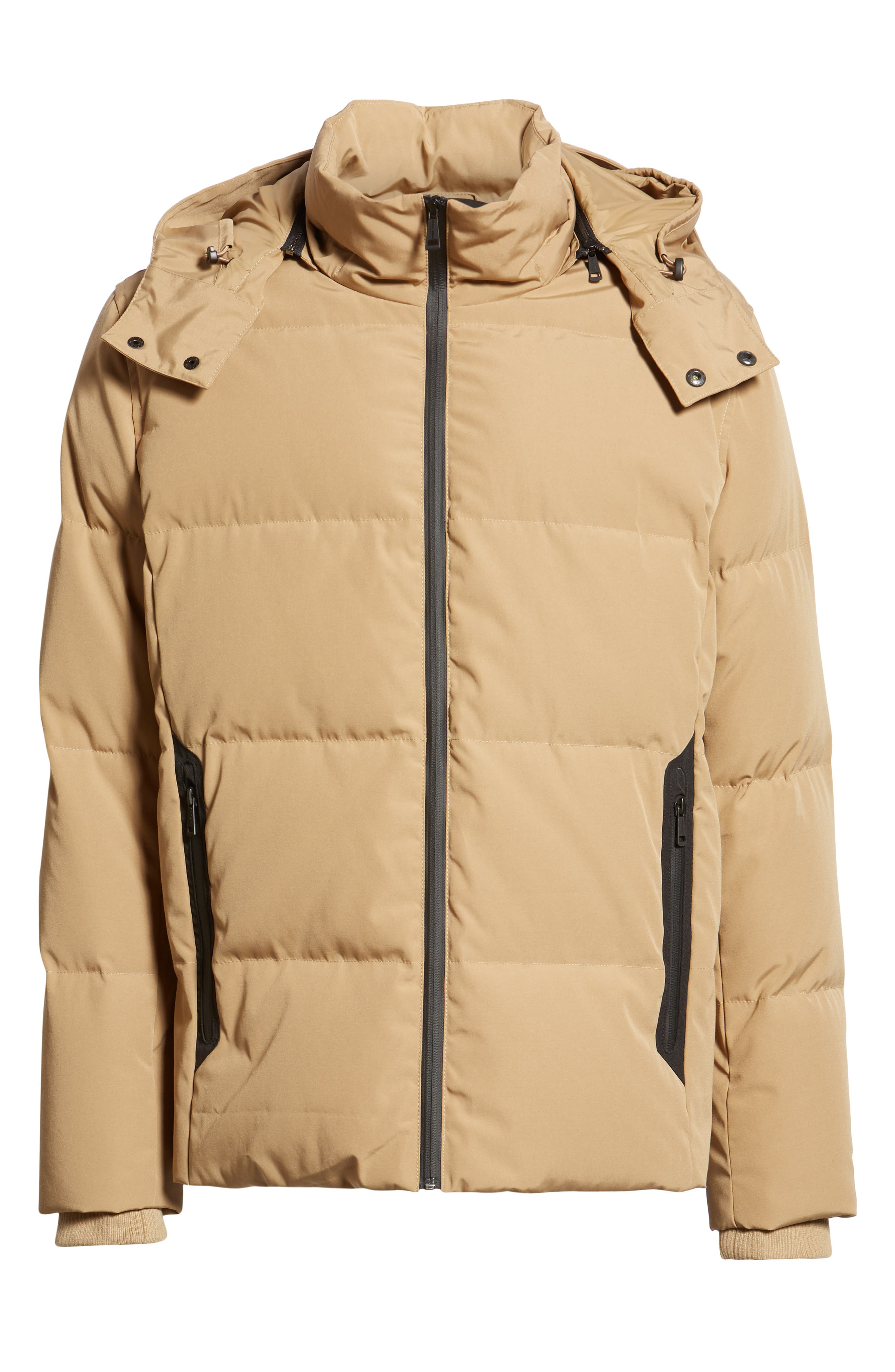 Hooded Puffer Jacket,                             Alternate thumbnail 6, color,                             KHAKI
