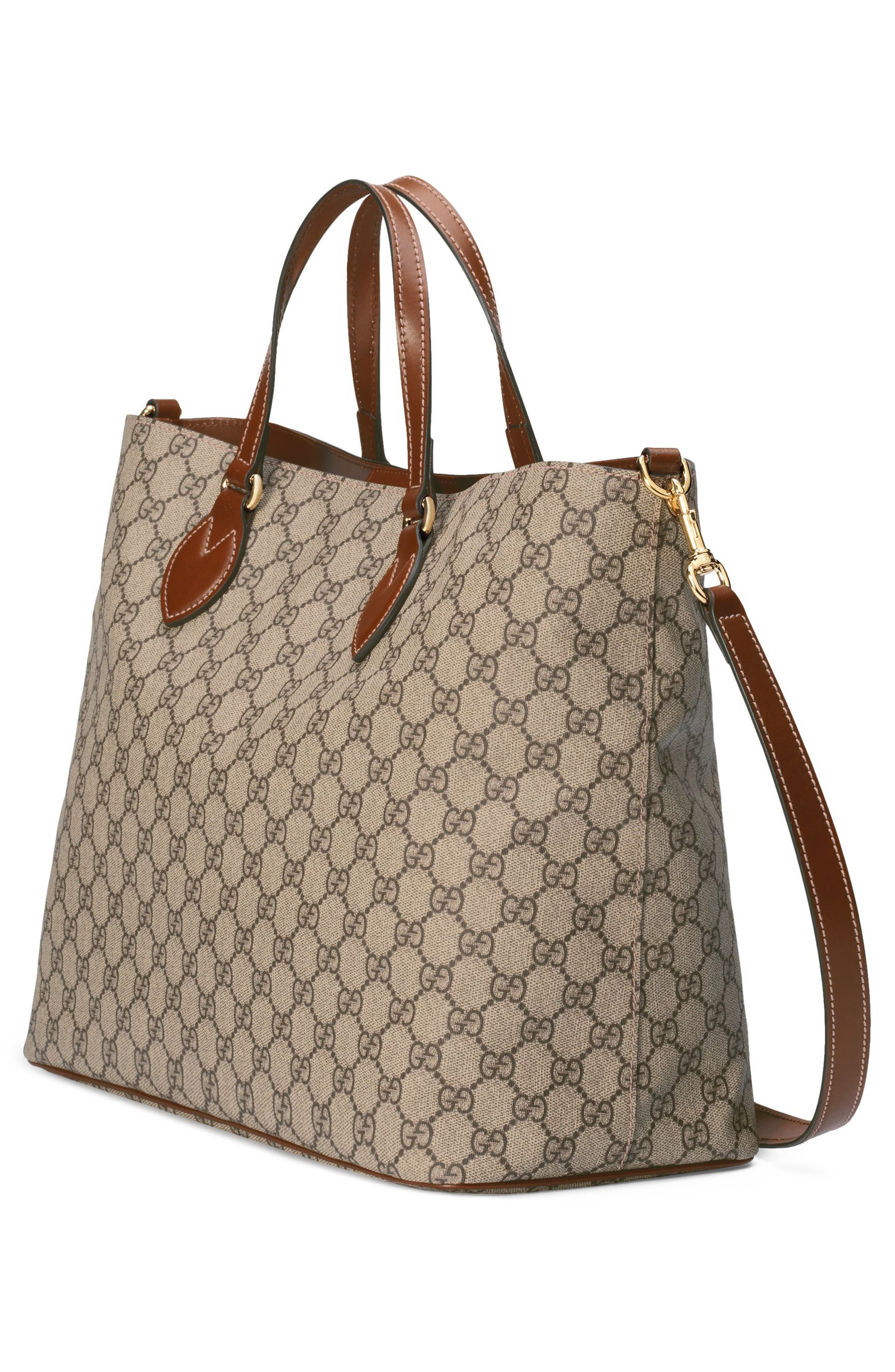 GG Supreme Soft Canvas Tote,                             Alternate thumbnail 4, color,                             283