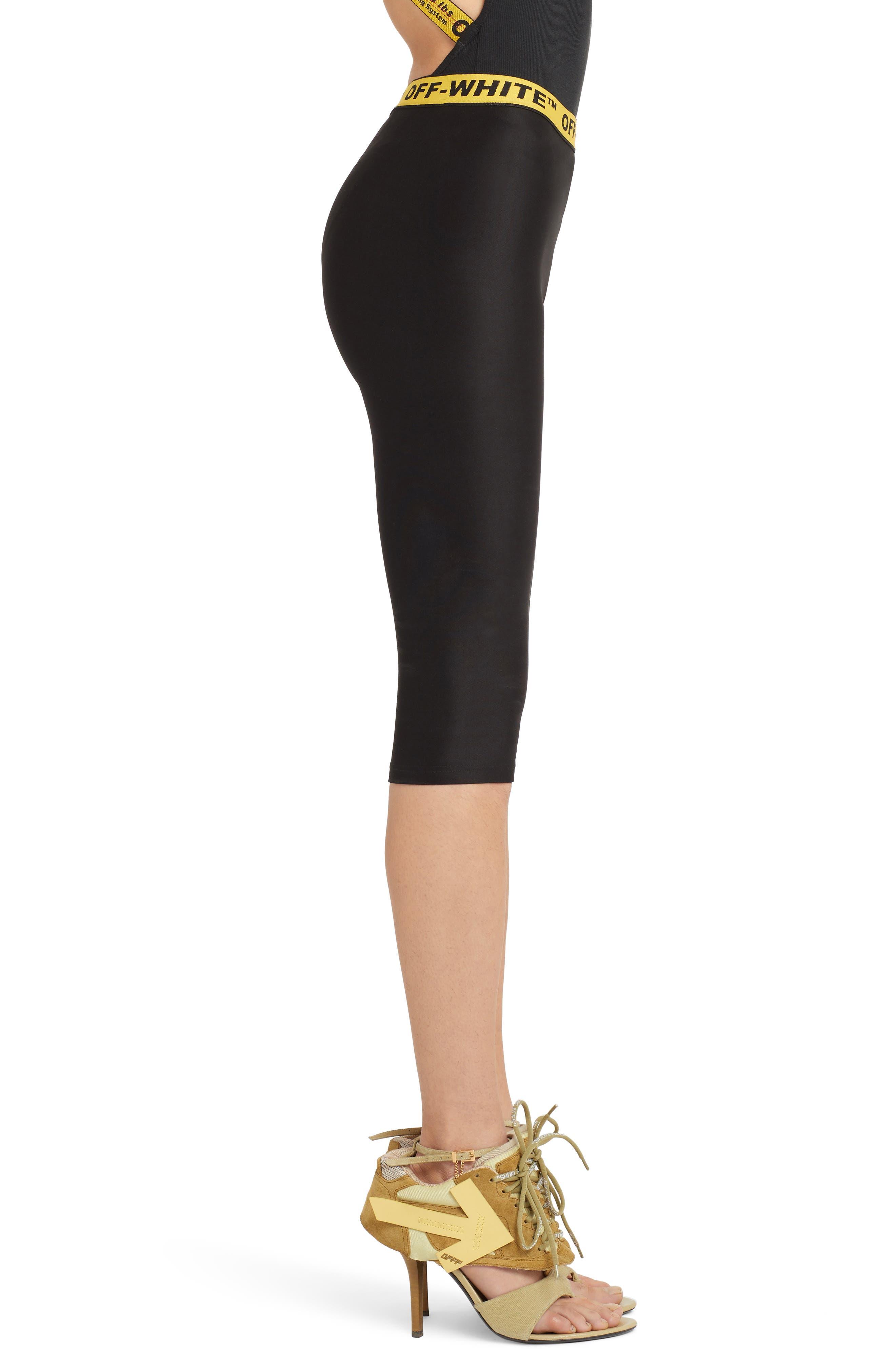 OFF-WHITE,                             Industrial Jogging Crop Pants,                             Alternate thumbnail 3, color,                             BLACK